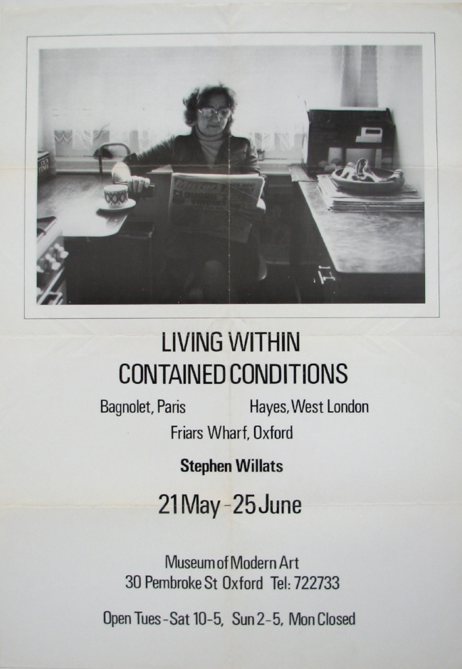 STEPHEN WILLATS   Living Within Contained Conditions   May 21–June 25, 1978  Museum of Modern Art, Oxford