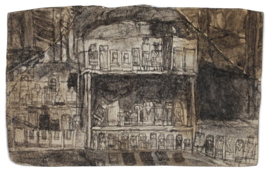 James Castle, Untitled (two sided drawing), Undated (recto)