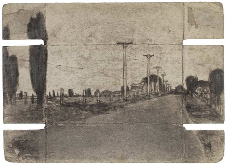 James Castle, Untitled (two sided drawing), Undated, Soot on paper, 5 1/4 x 7 1/4 inches, CAS09-0734  Lawrence Markey Inc.  2/6