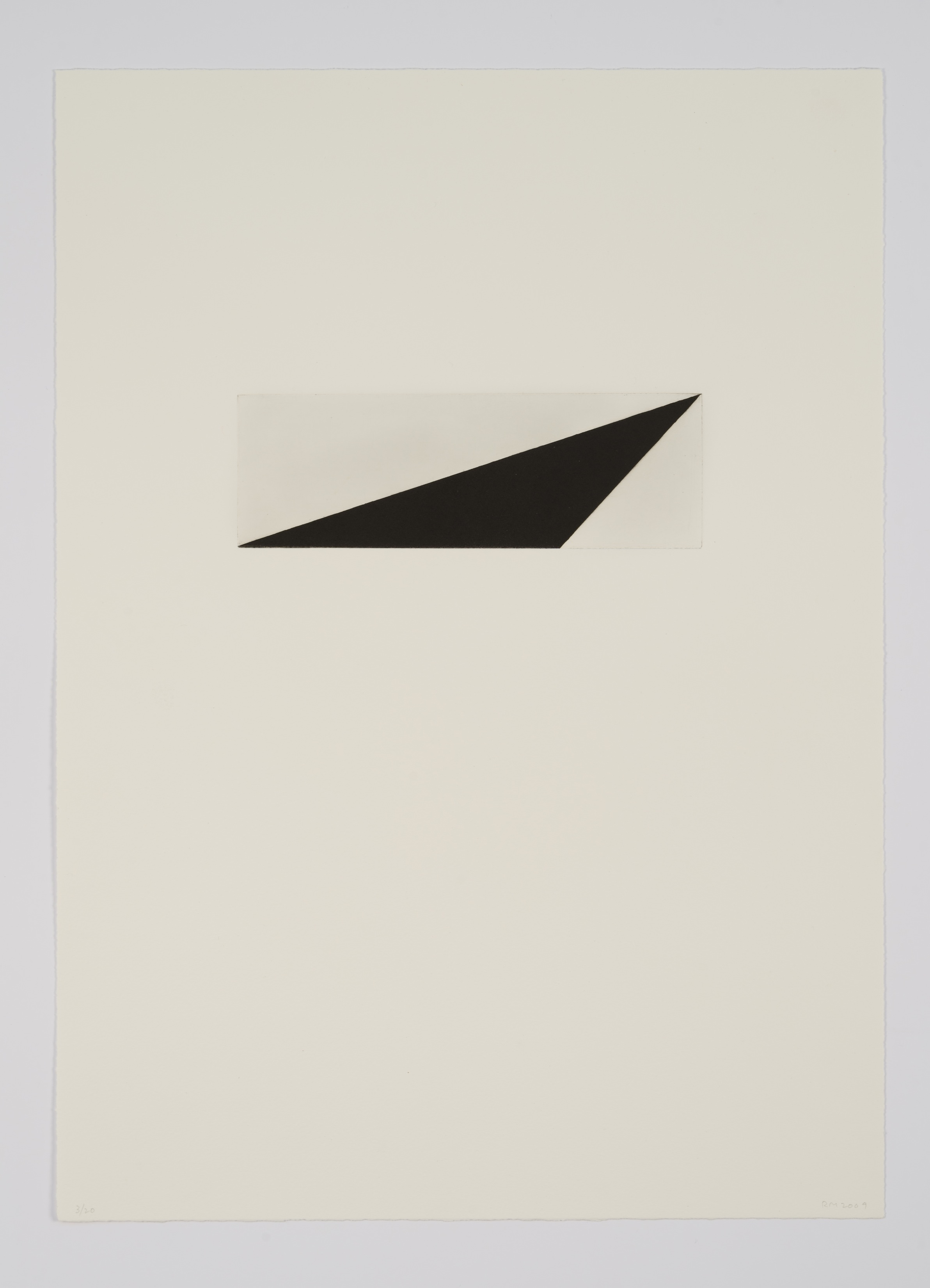 Robert Moskowitz, Untitled, 2009, Etching with aquatint, ed. 20, image:7 7/8 x 2 9/16 inches, sheet: 19 1/2 x 14 inches, RMO0905  7/12  Lawrence Markey Inc.
