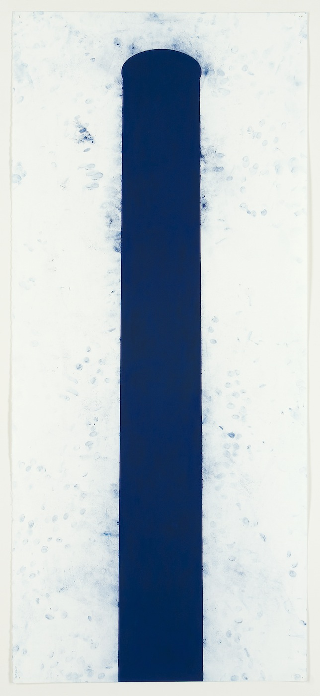 Robert Moskowitz,  Stack , 2000, Pastel on paper, 50 5/8 x 22 1/4 inches, RMO0012  Lawrence Markey Inc.  3/6