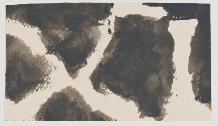 James Bishop, Untitled, No date, Oil on paper, 3 1/2 x 6 in. (8.9 x 15.2 cm), JBInd13  5/6  Lawrence Markey Inc.