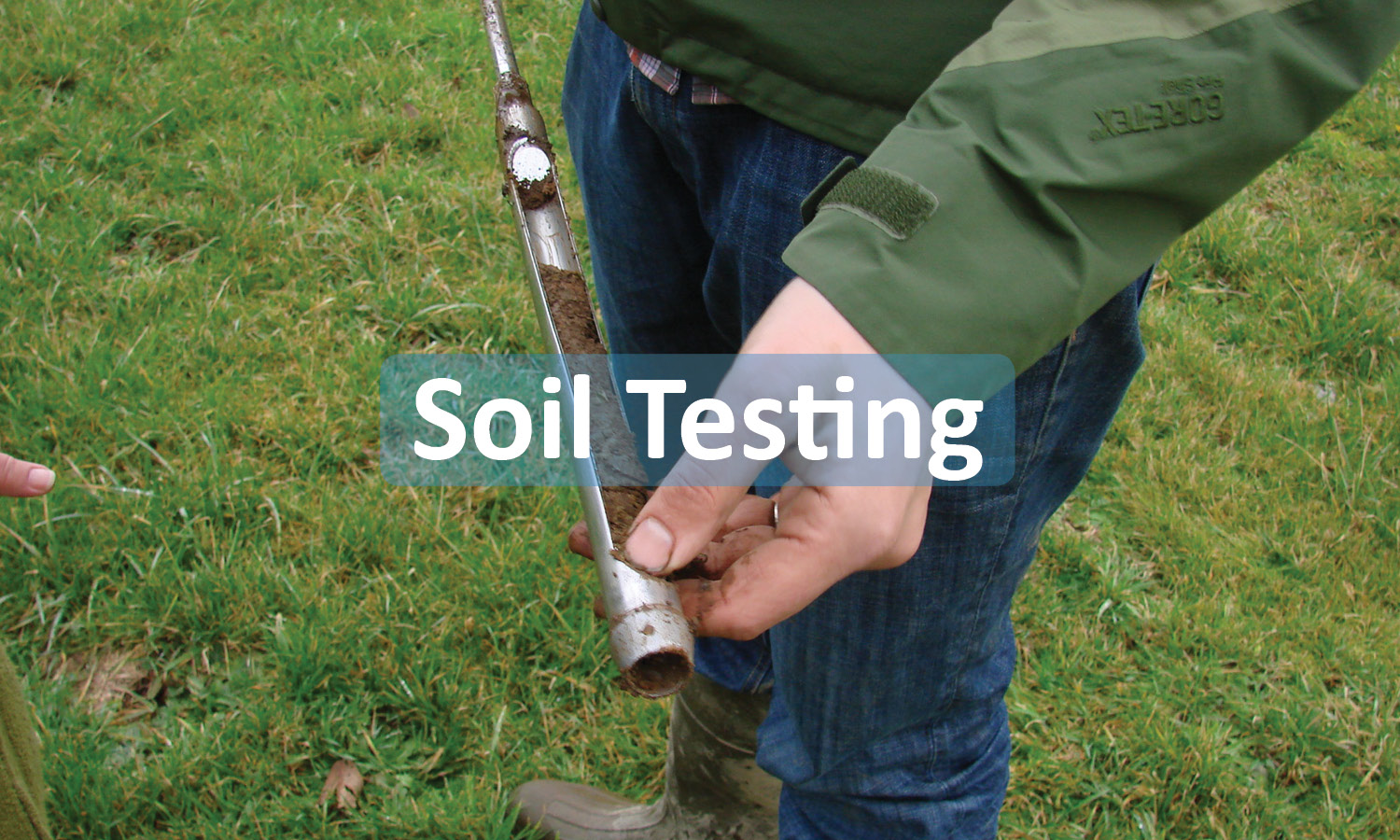 Soil testing program button