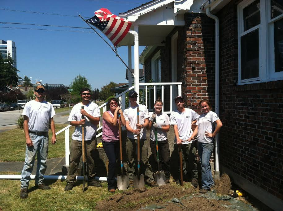 Maia Bellon and our WCC Crew Digging rain Gardens in Everett