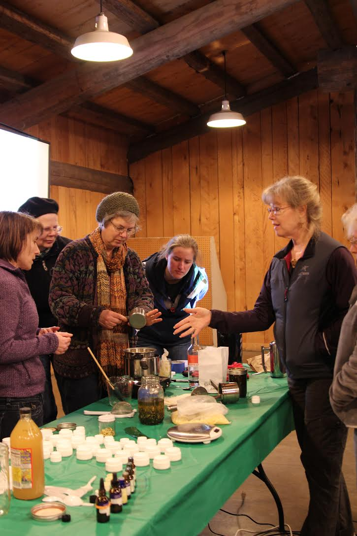 Photo of herbal class participants at the 2015 Plant Sale-abration