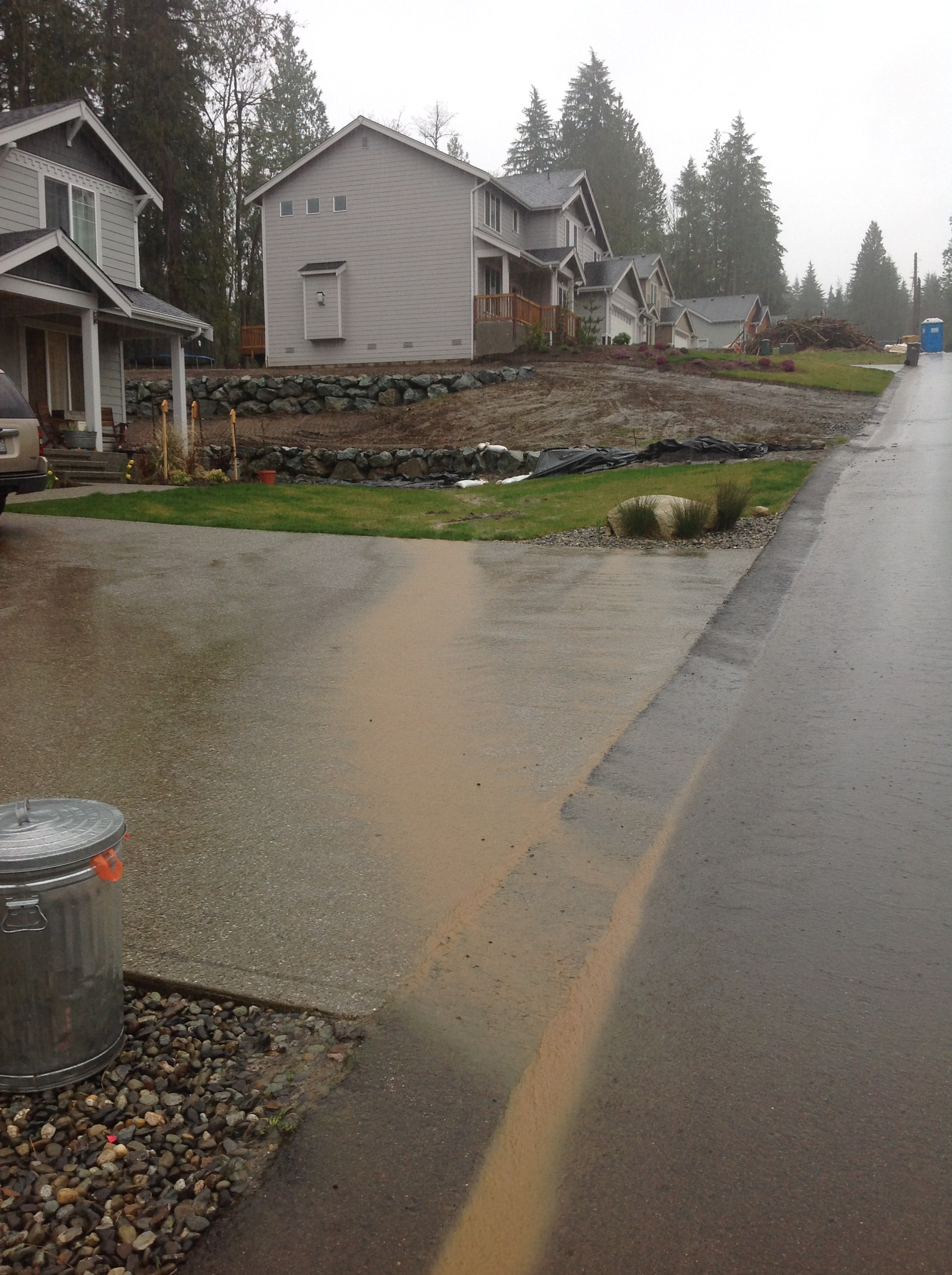 Photo of Stormwater runoff before project installation