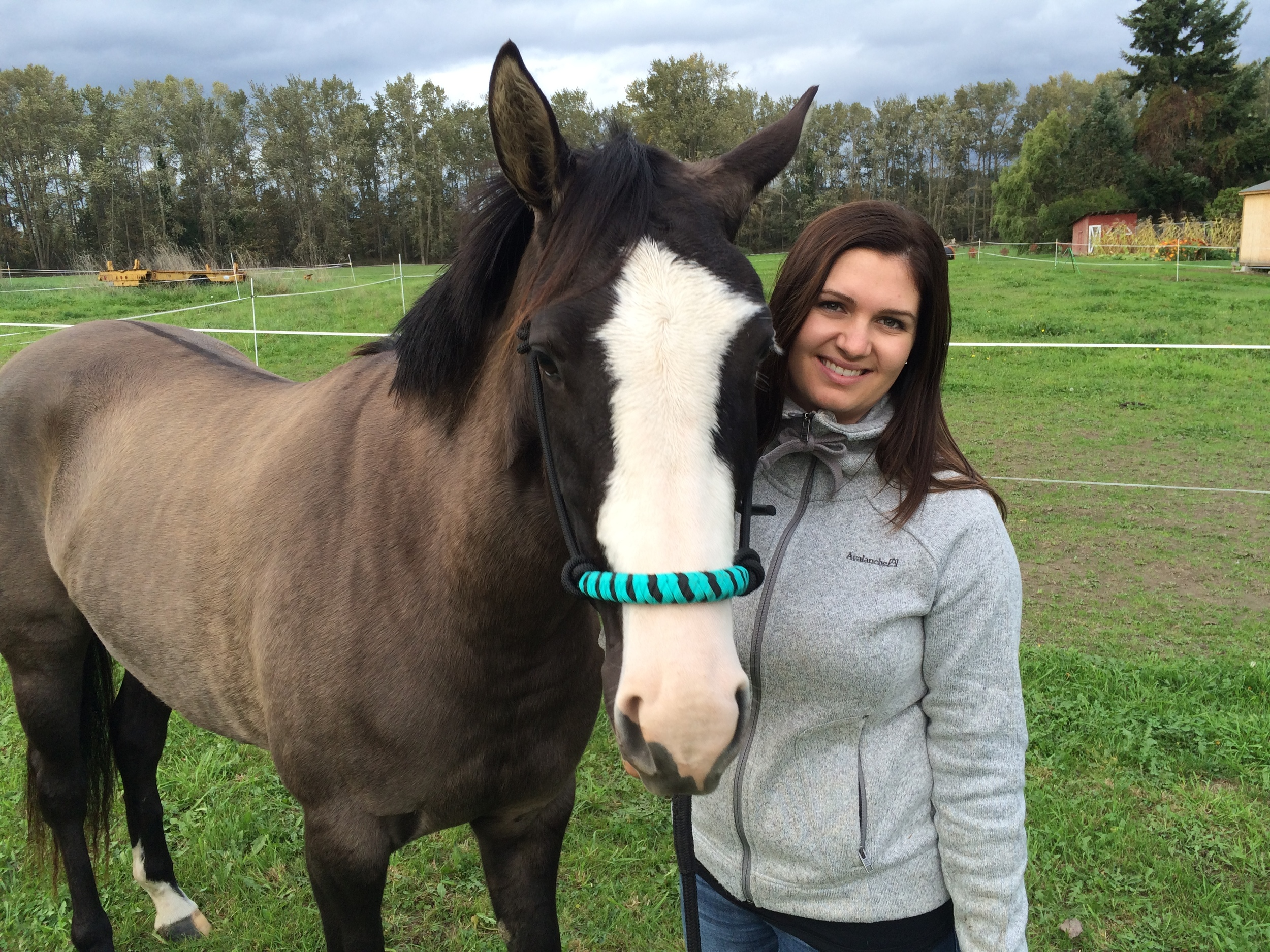 Cayley Allen with her quarter horse filly, Andie, near Silvana.