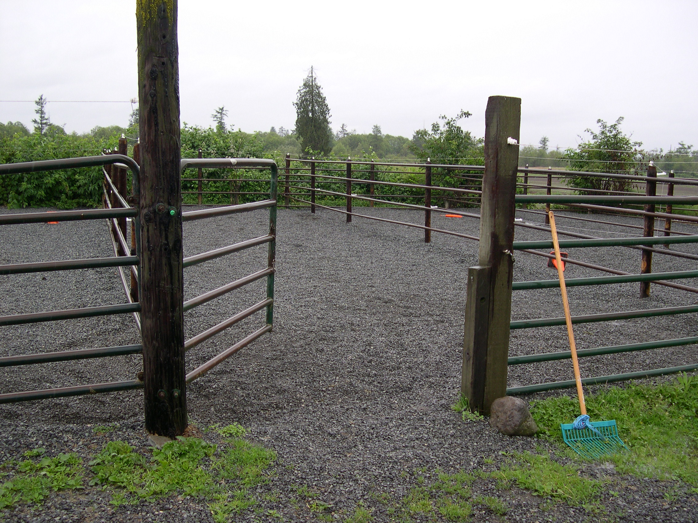 A heavy use area like the one above helps keep animals off soggy, wet pastures in the winter. This makes chores easier, protects their hooves and helps prevent compaction and over-use of pastures. Your pasture will recover much more quickly in the spring.