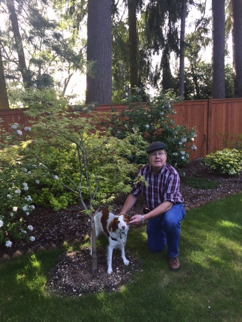 Lynnwood resident with his newly planted tree.