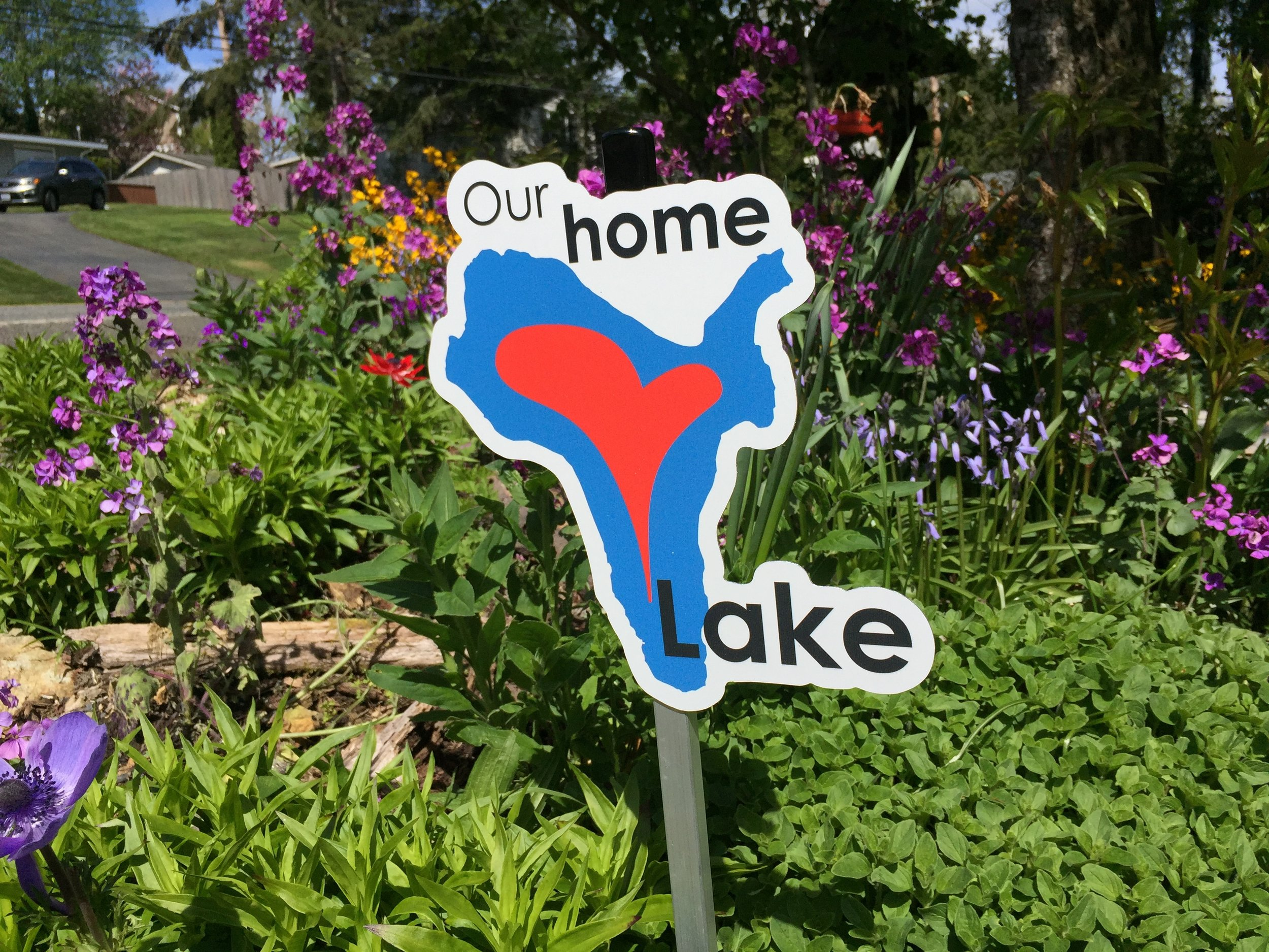 YOu can earn this sign by becoming a Lake-Friendly Certified home.