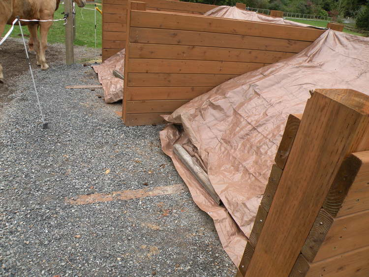 Compost Bins to separate and cover manure
