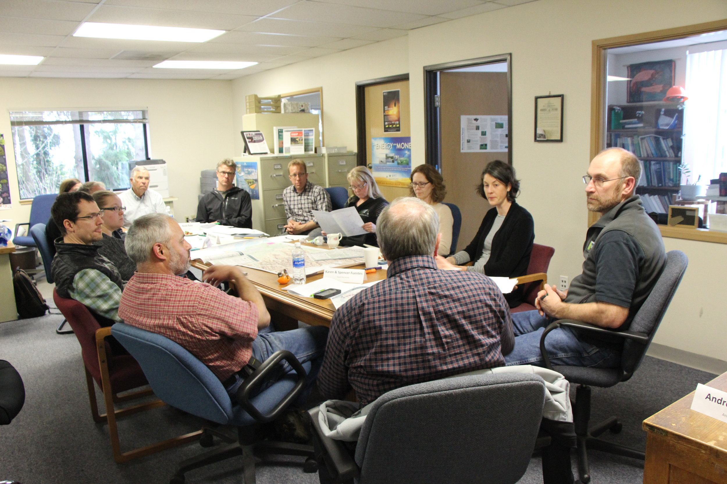 Steering committee at Snohomish Conservation District Office - May 2018
