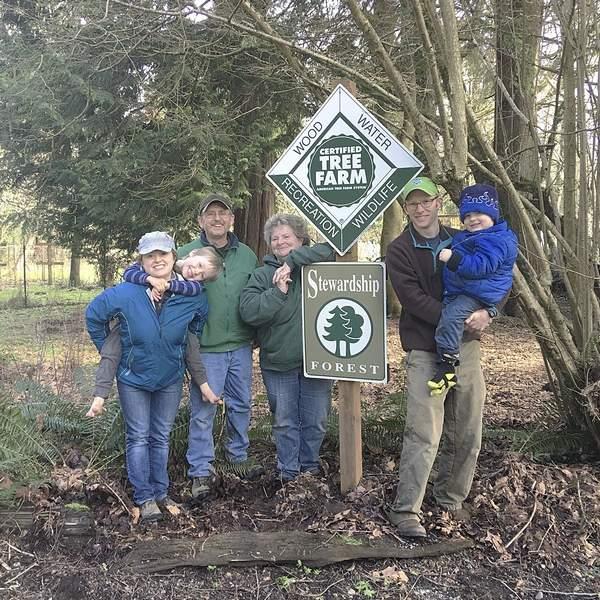 The New Family / Parker Family  Photo credit: Washington Tree Farm Program