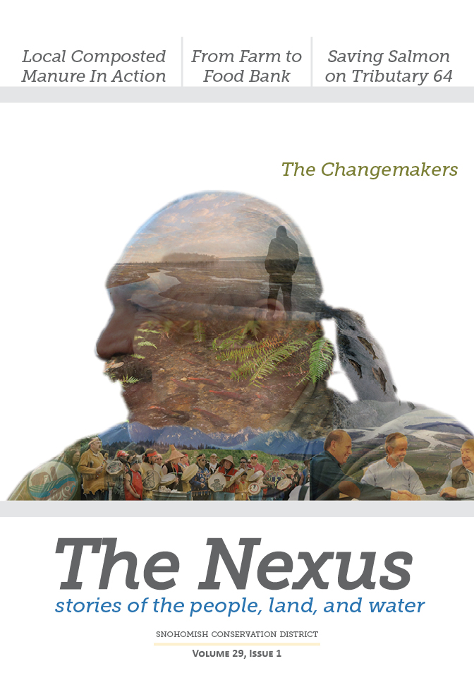 Cover of The Nexus, showing a collage photo of Terry Williams (lifetime achievement award winner at the 2018 Better Ground Showcase).