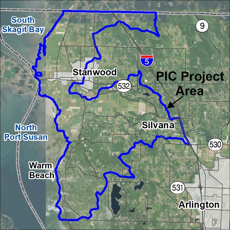 Inside of the blue lines represents the area covered by Phase 2 of the PIC.