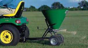 Lime spreader in use