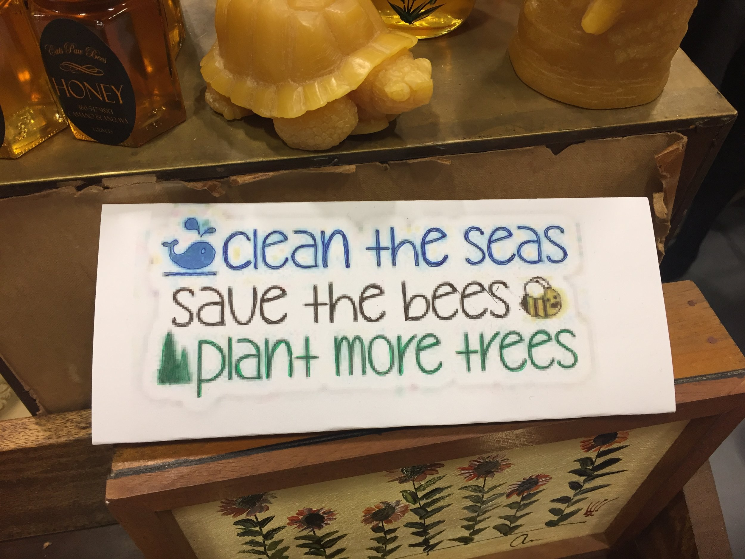 Sign at Honey Booth
