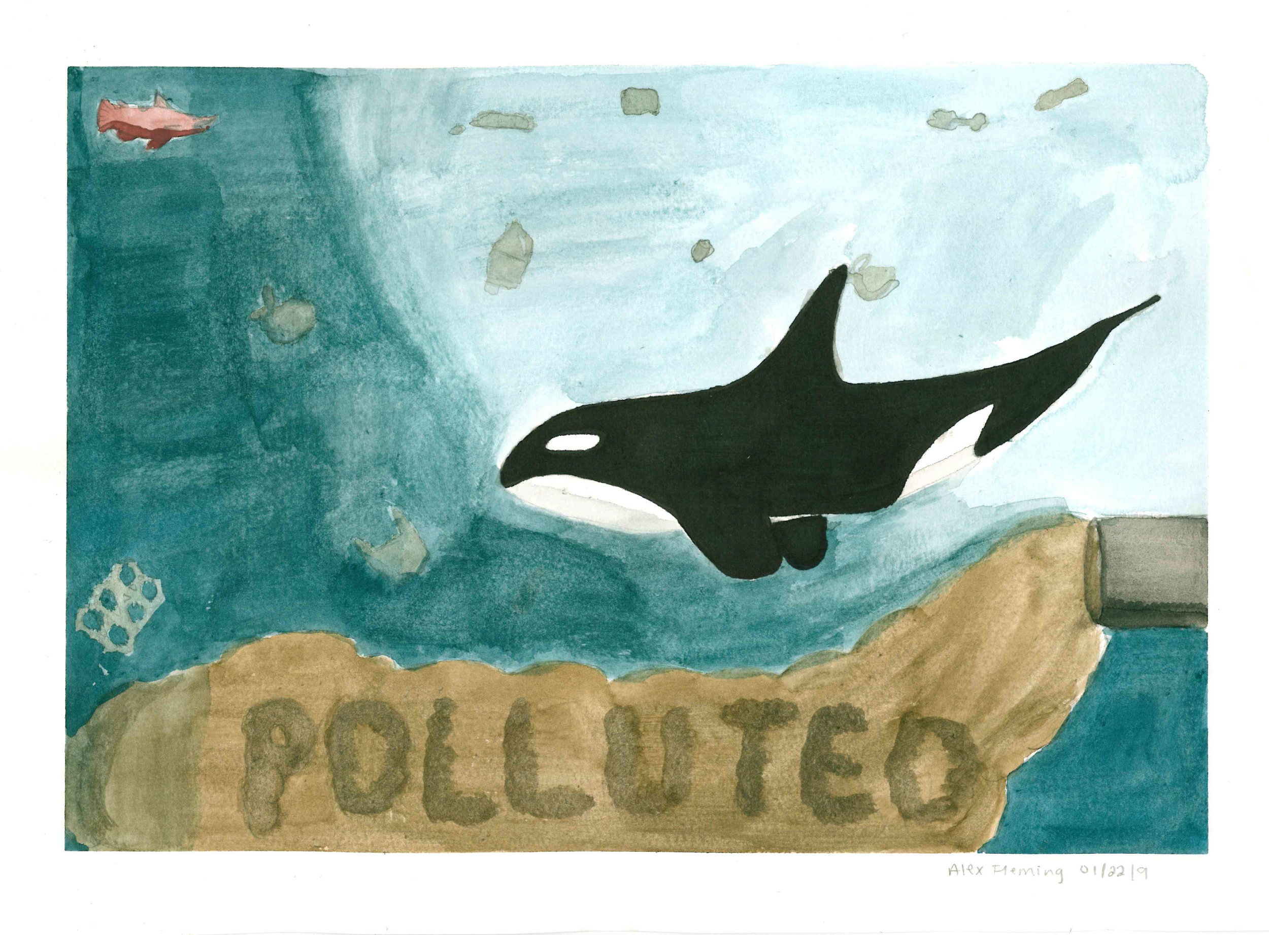 Polluted by Alex Fleming - Tied for 3rd - Grades 9-12