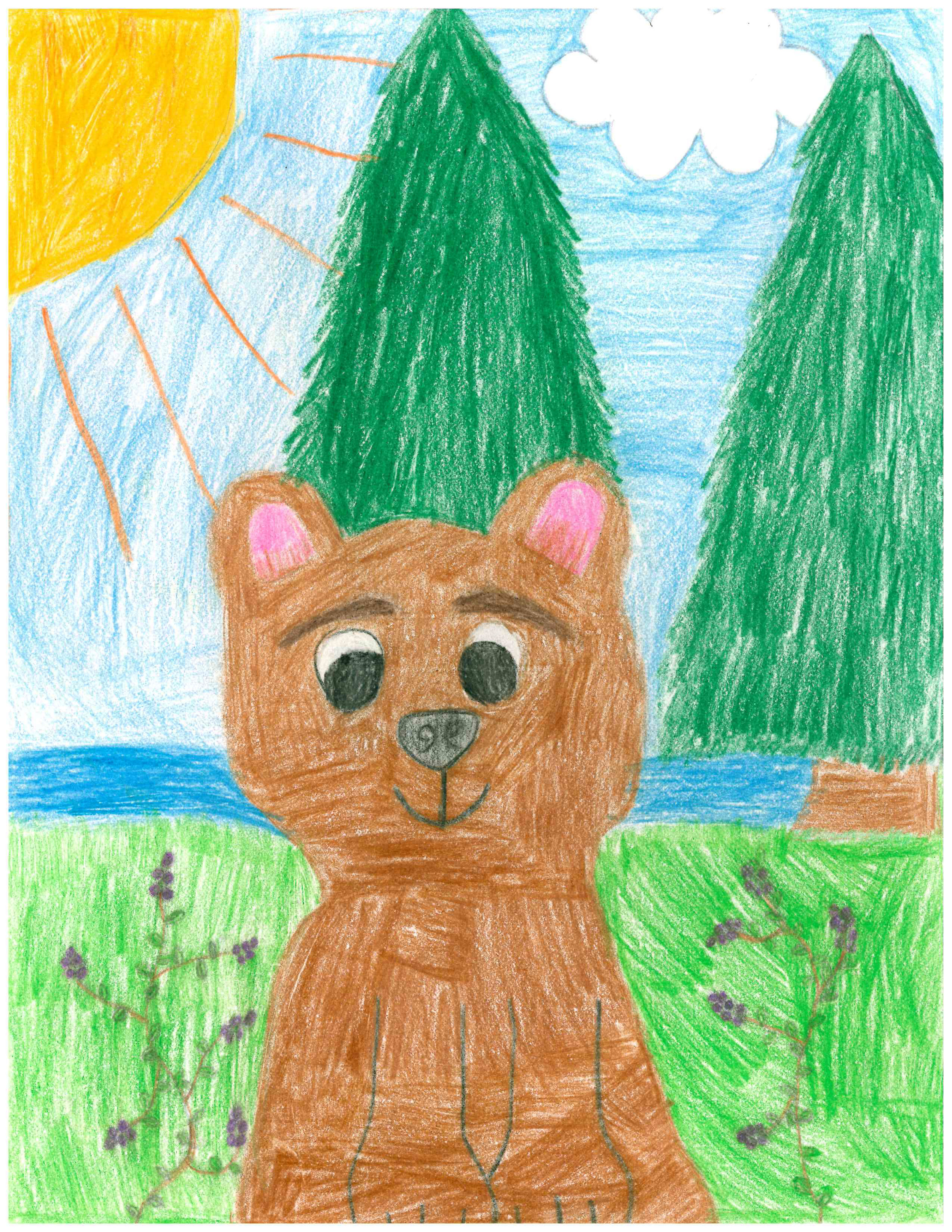 Huckle Bear by Genevieve Buck - 2nd Place - Grades K-2 (but really 3-5)