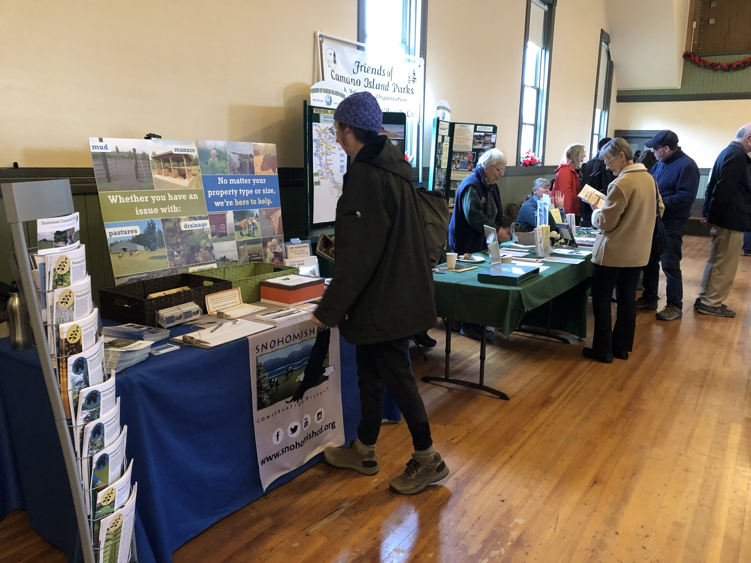 FOCIP and Camano Wildlife Habitat Project's tables were next to SCD's table
