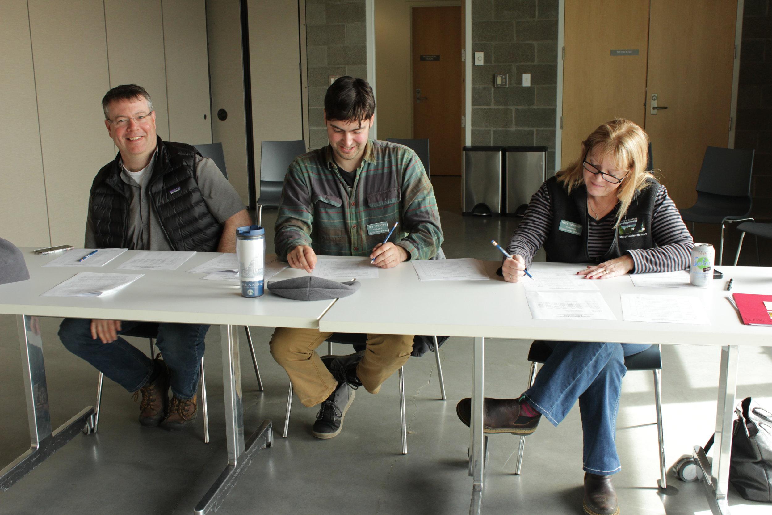 SCD Staff - Eric Schuh, Joe Crumbley and Bobbi Lindemulder