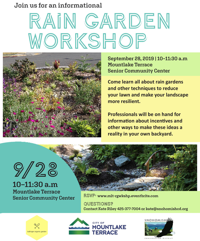 Mountlake Terrace Rain Garden Workshop Snohomish Conservation