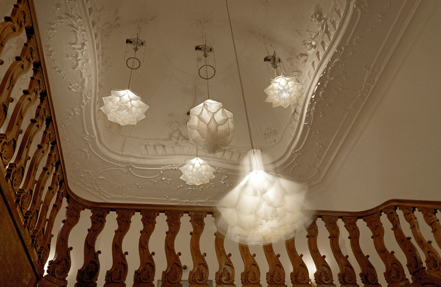 Detail of a Shylight in the Rijksmuseum (courtesy of Studio Drift)