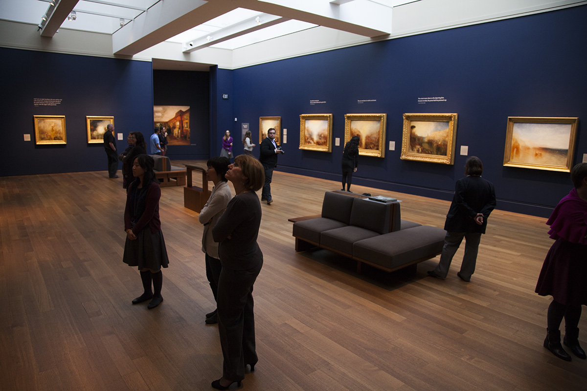 Installation view of J. M. W. Turner: Painting Set Free at the J. Paul Getty Museum at the Getty Center