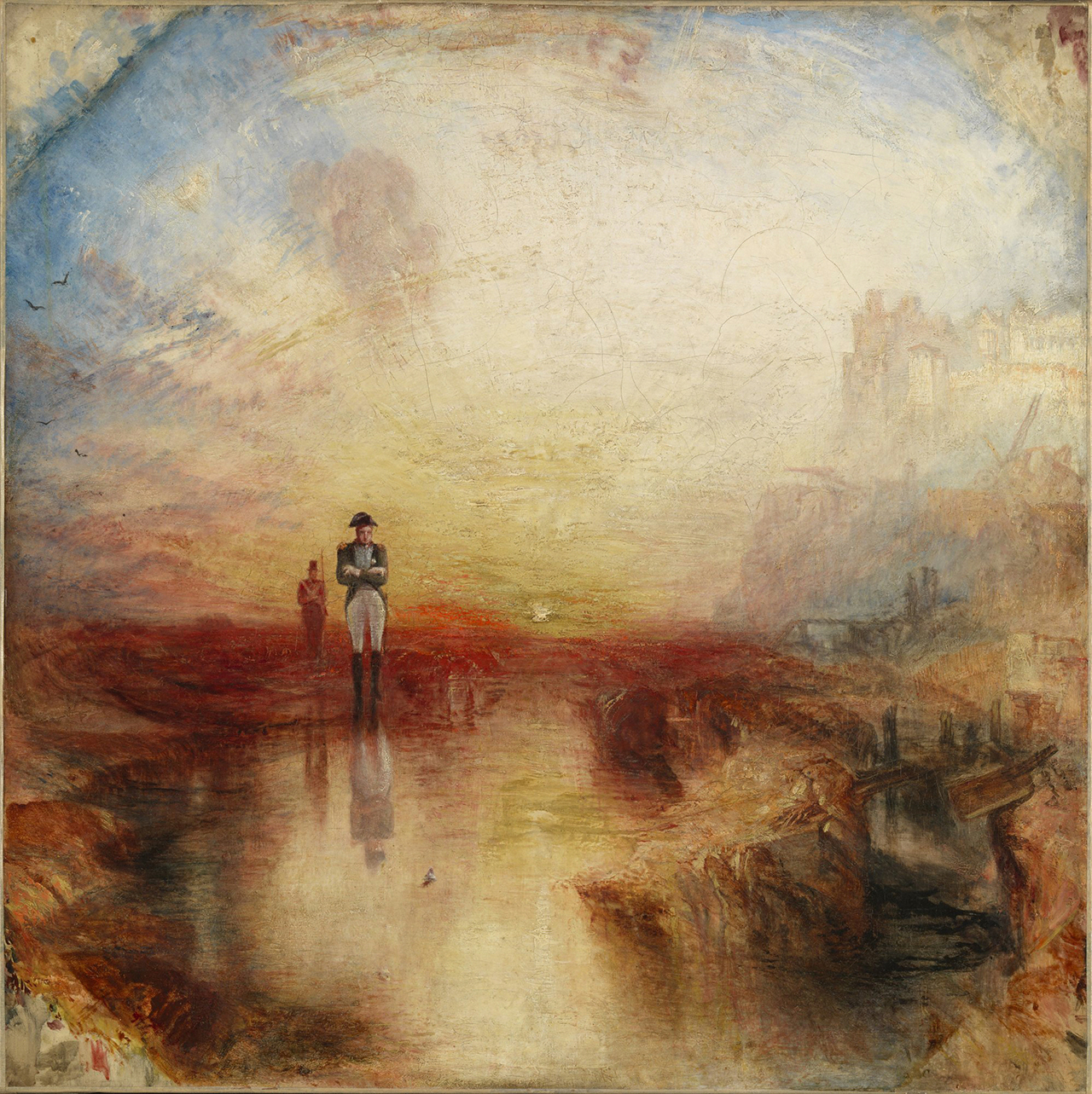 "J.M.W. Turner, ""War. The Exile and the Rock Limpet"" (exhibited 1842), oil on canvas (Tate: Accepted by the nation as part of the Turner Bequest 1856)"