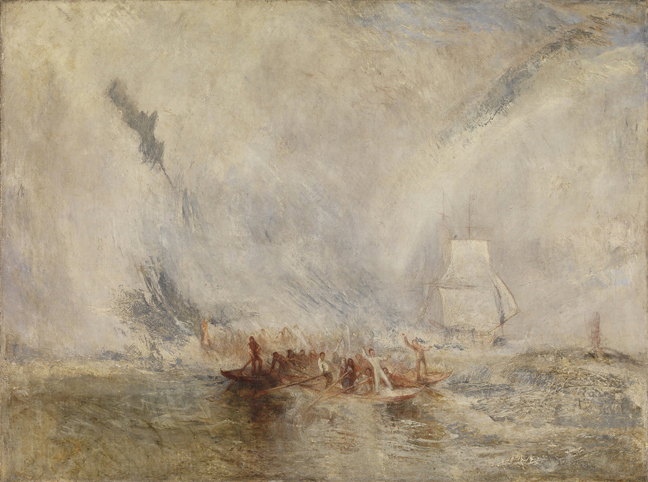 "J.M.W. Turner, ""Whalers"" (exhibited 1845), oil on canvas (Tate: Accepted by the nation as part of the Turner Bequest 1856 Photo © Tate, London 2014)"