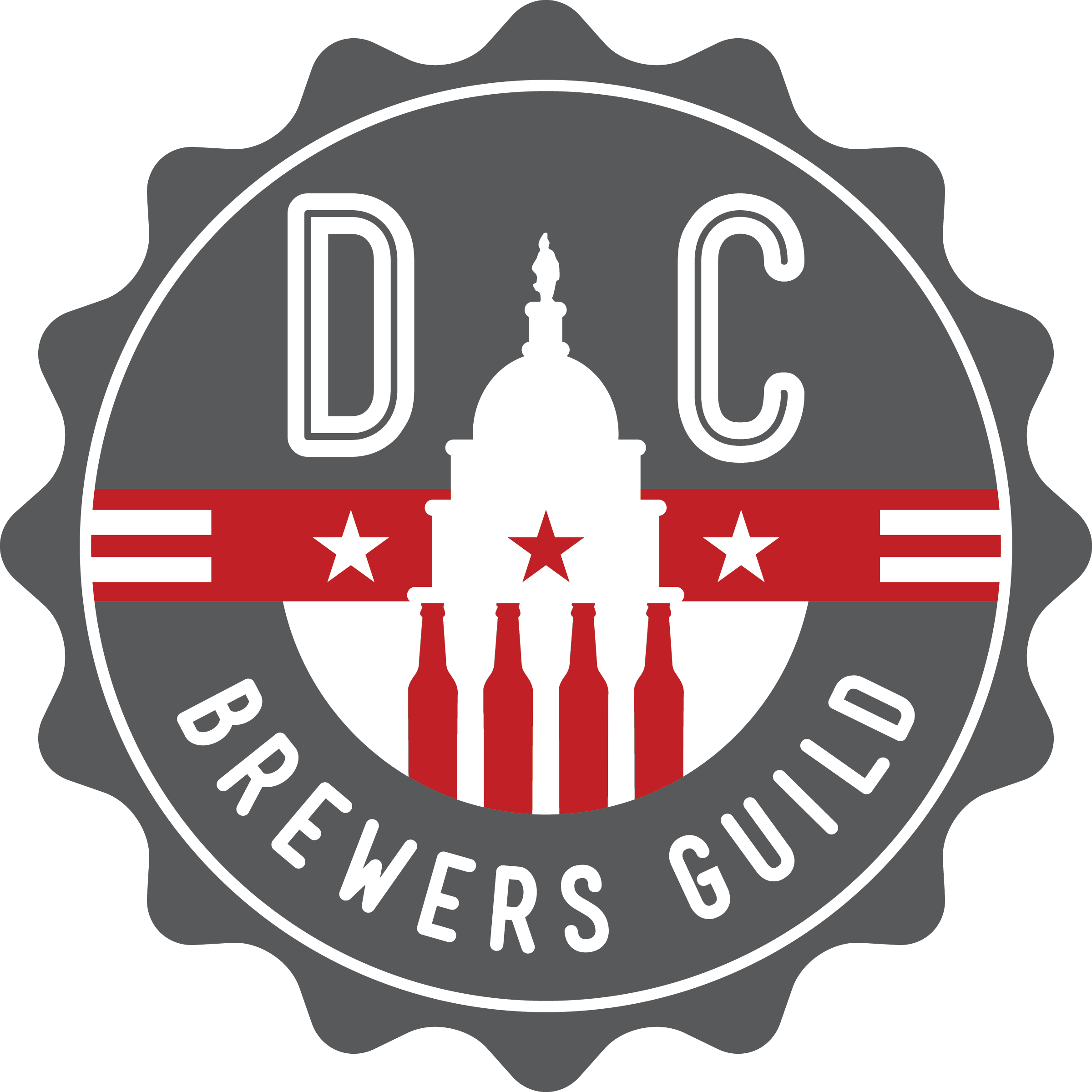 DC Brewers' Guild - In 2014, representatives from Washington, DC's craft breweries gathered together in the Heurich House Museum's Conservatory to create the DC Brewers Guild. 100 years earlier, Christian Heurich had met his brewery guild members in this same room to discuss impending Prohibition. The museum is proud of its role in the Guild's creation and its close partnerships with the District's modern craft breweries who are the torch-bearers of Heurich's legacy.The DC Brewers Guild exists to unify the Washington, D.C. brewing community by honoring D.C.'s brewing heritage, fostering community development and pride, educating consumers,promoting shared business interests, and encouraging sustainable growth.