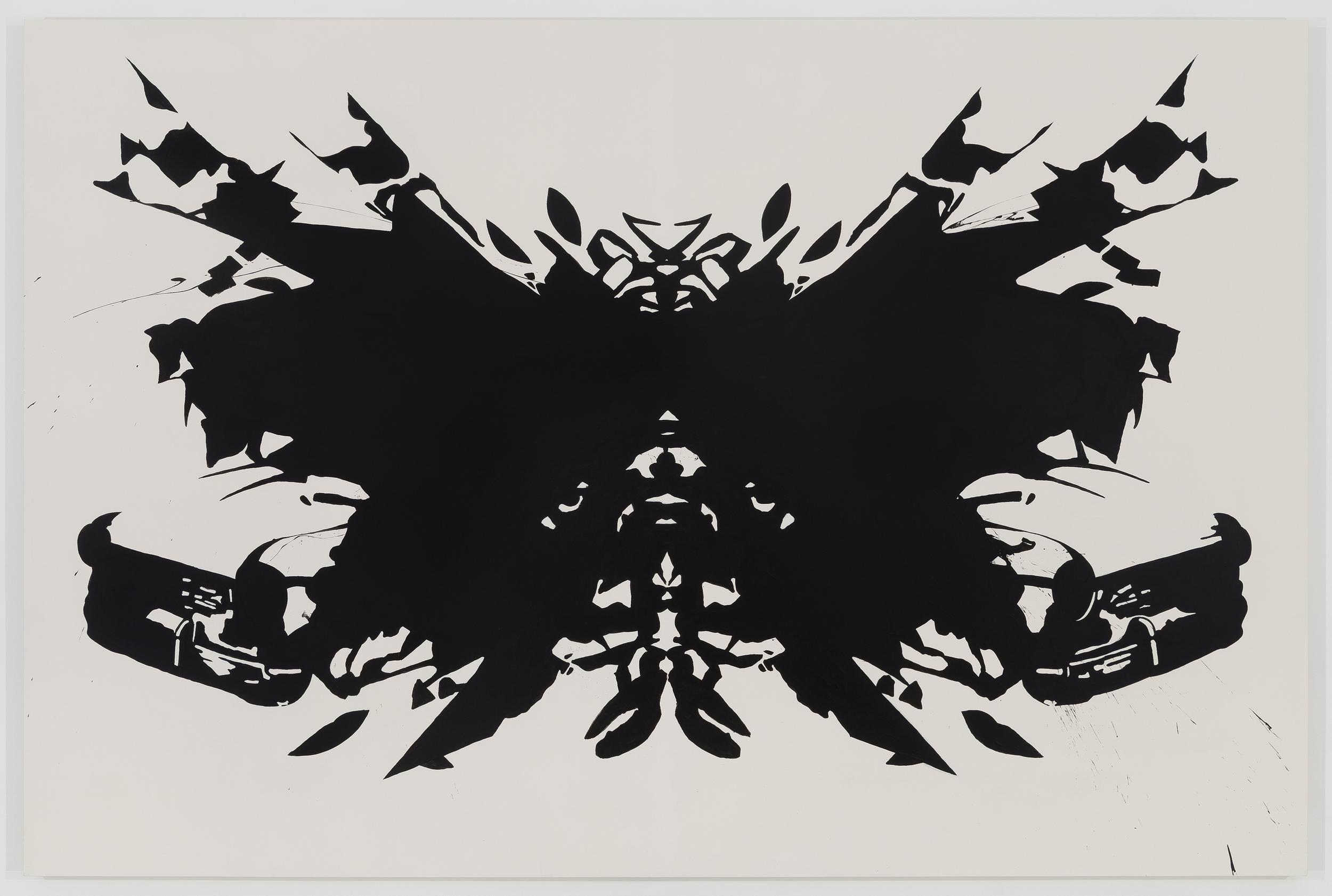 SELF PORTRAIT (INKBLOT)  2014 ACRYLIC ON PANEL 60 X 90 INCHES