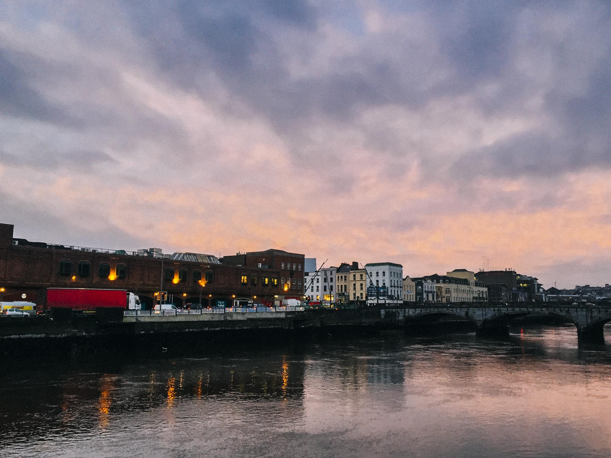 Sunrise in Cork before leaving for Dublin.