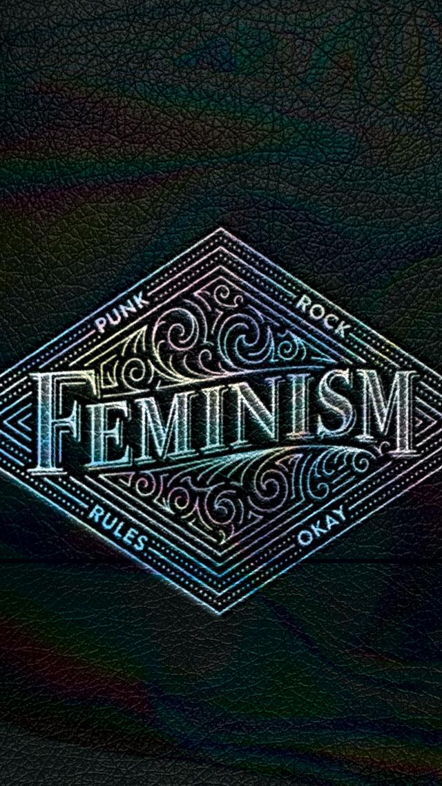 Punk Rock Feminism Lockscreen