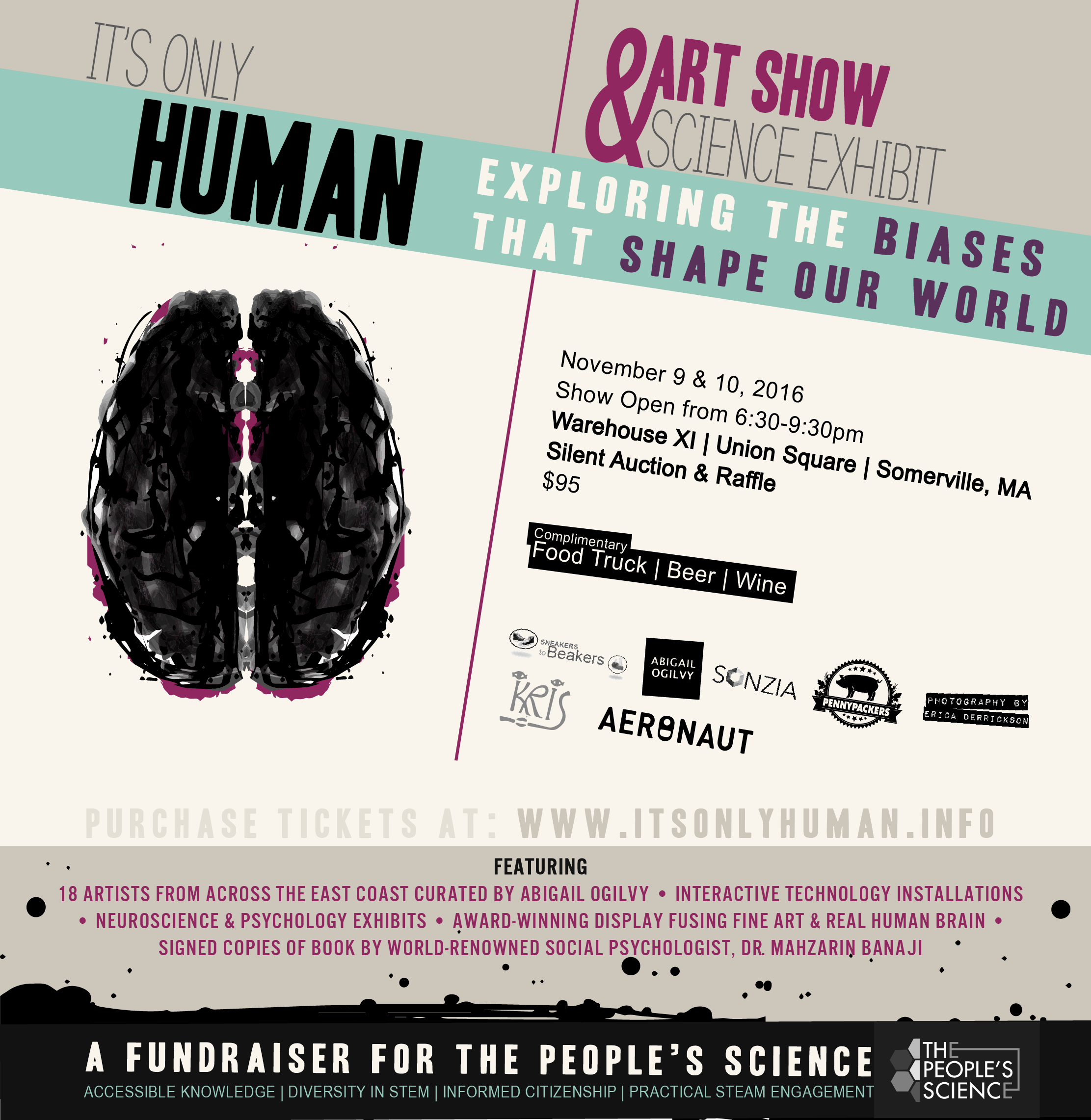 """Past Exhibition:   Human BIAS    """"The Color of Your Aura"""", on display Nov. 9 & 10"""