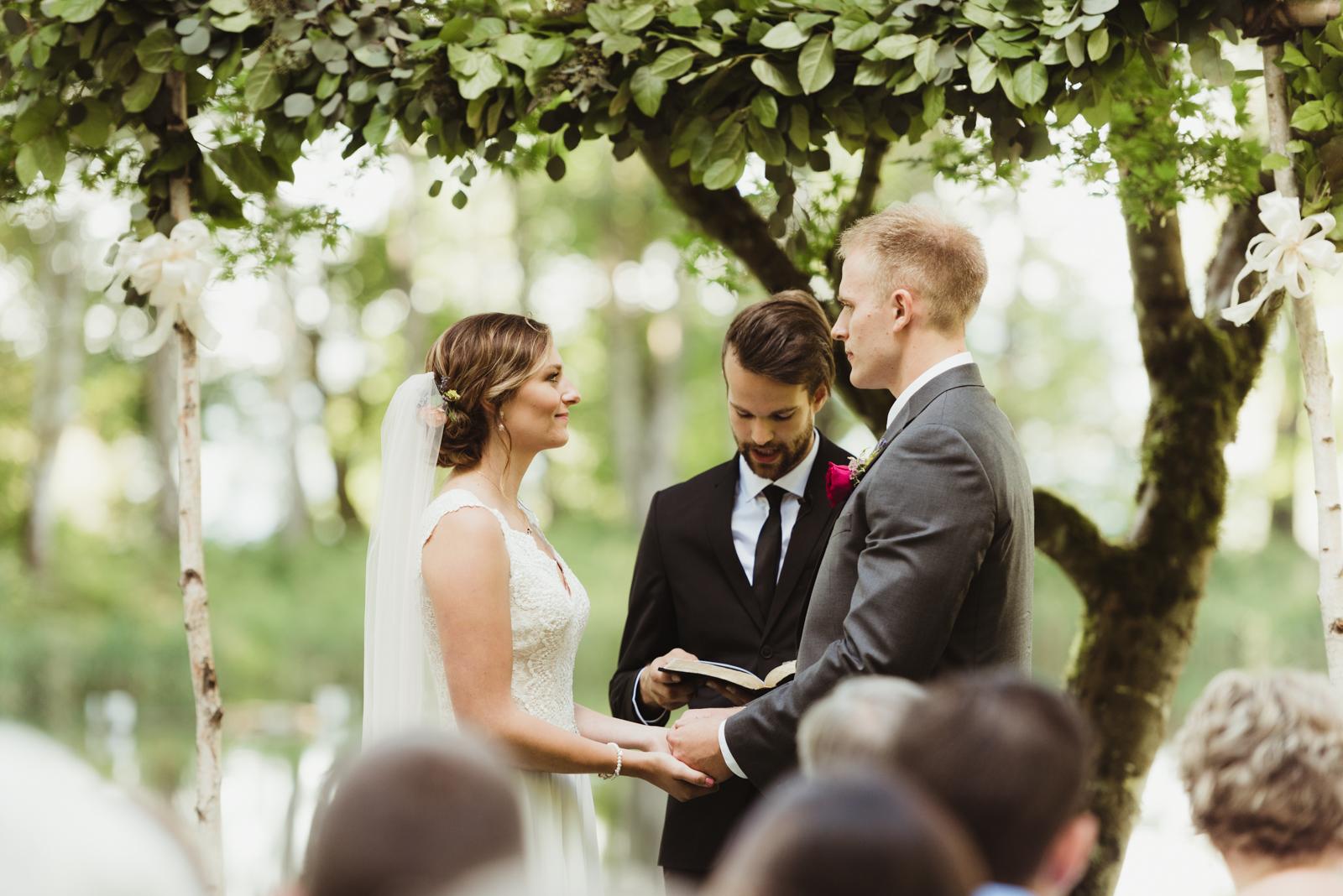 beautiful wedding ceremony at Bridal Veil Lakes