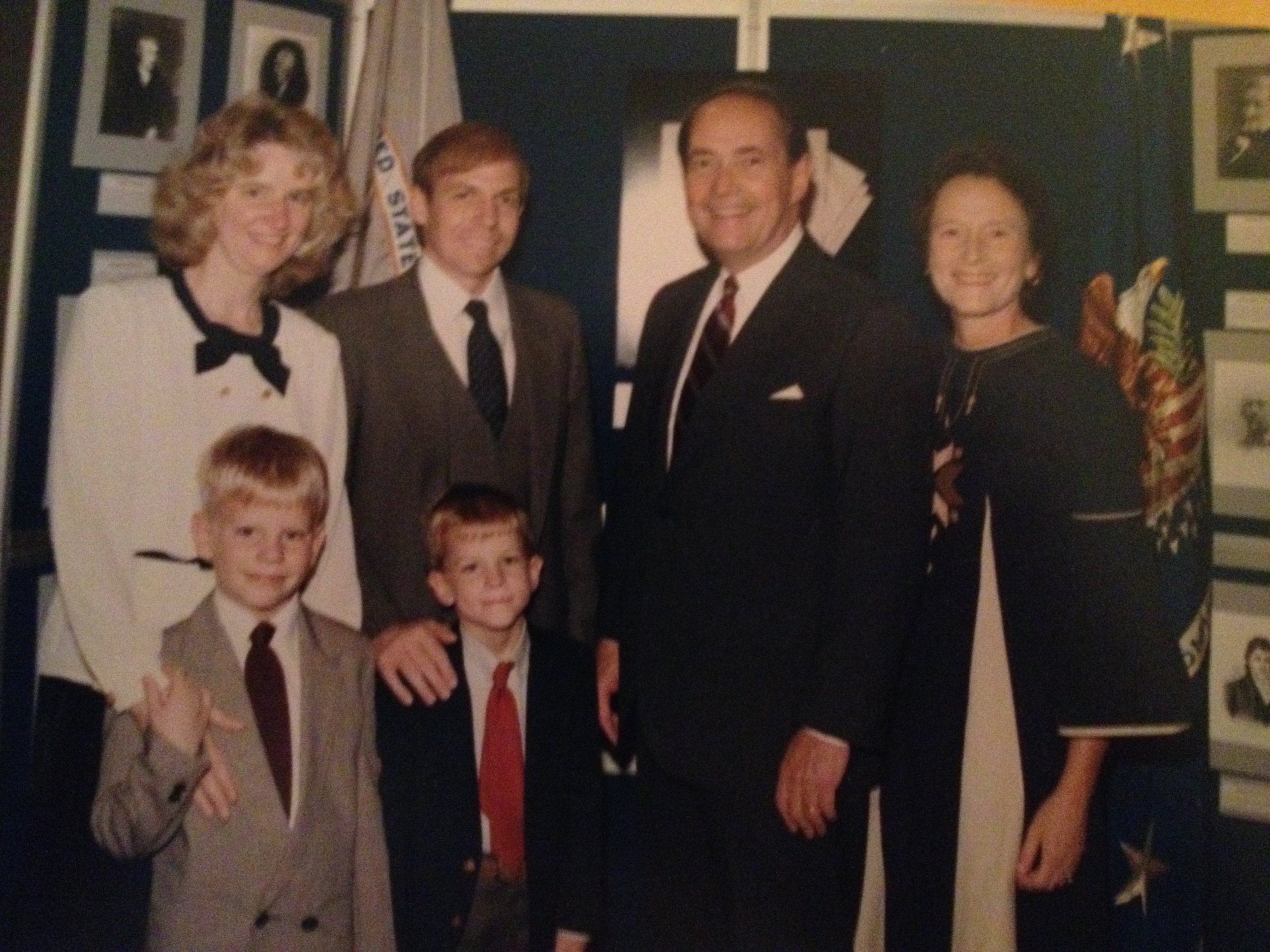 United States Attorney Bob Edmunds and his family with United States Attorney General Richard Thornburgh, circa 1990
