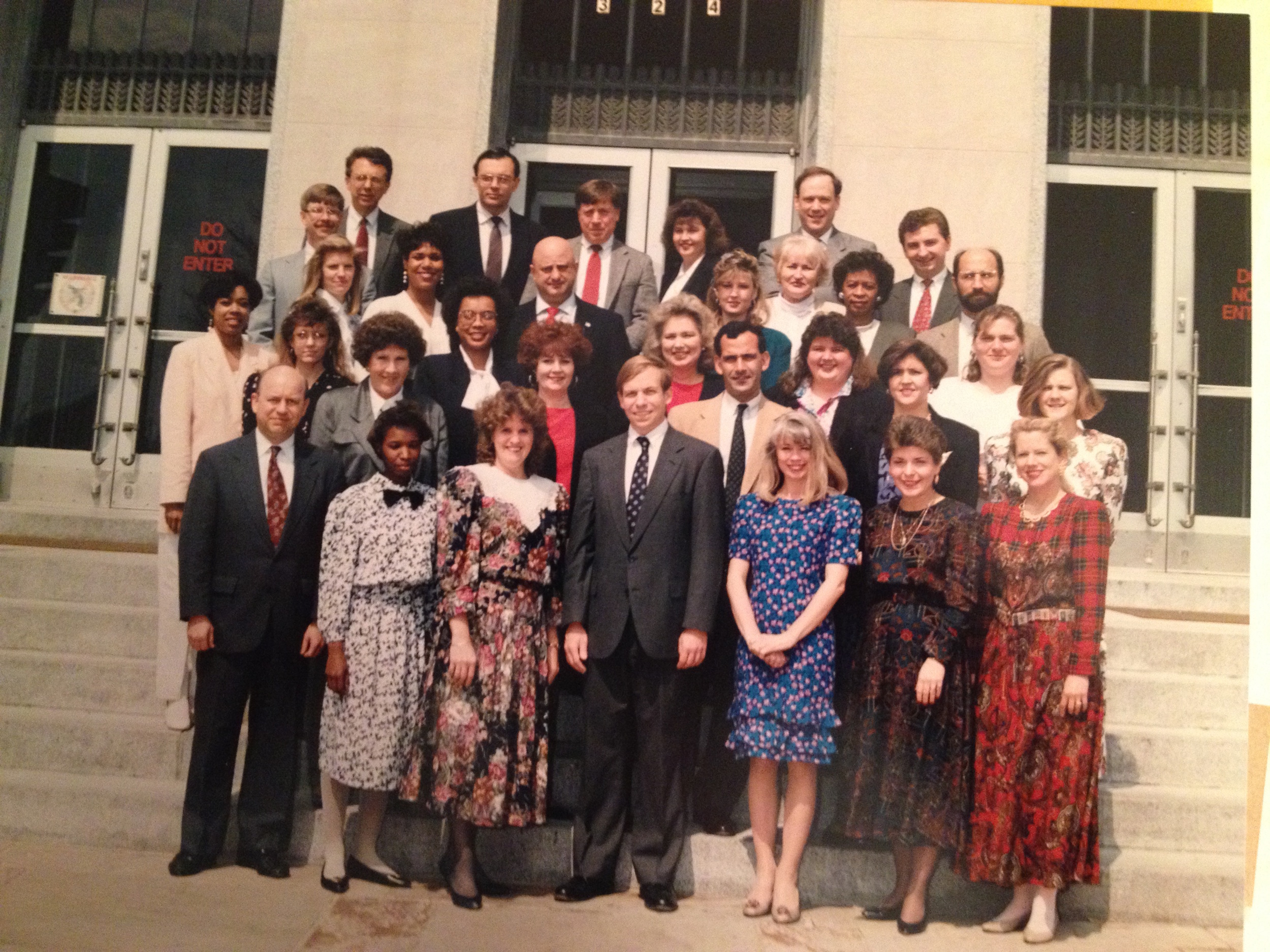 United States Attorney Edmunds and staff, circa 1990.