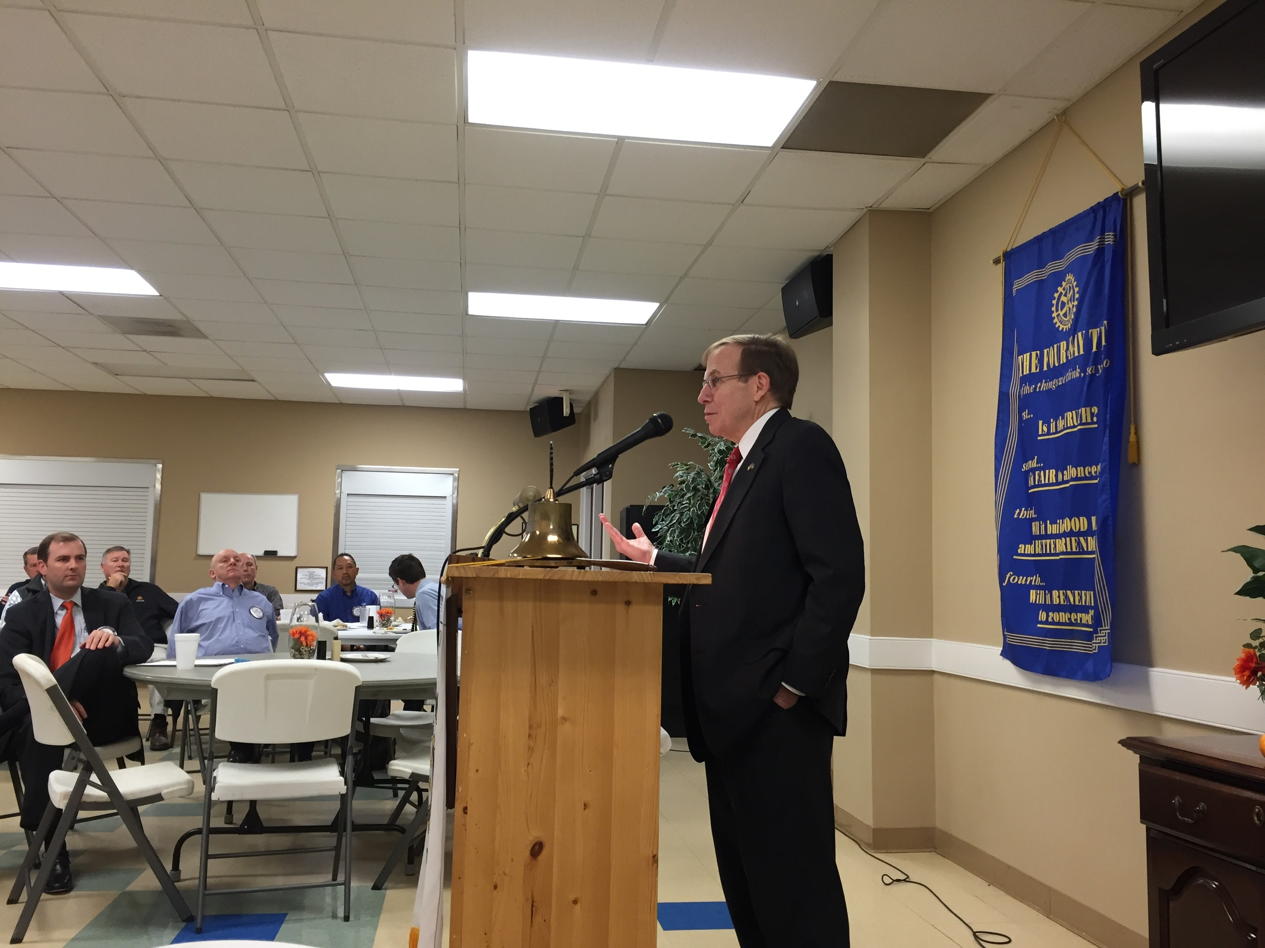Justice Edmunds speaks to Kernersville Rotary, 21 October 2015.