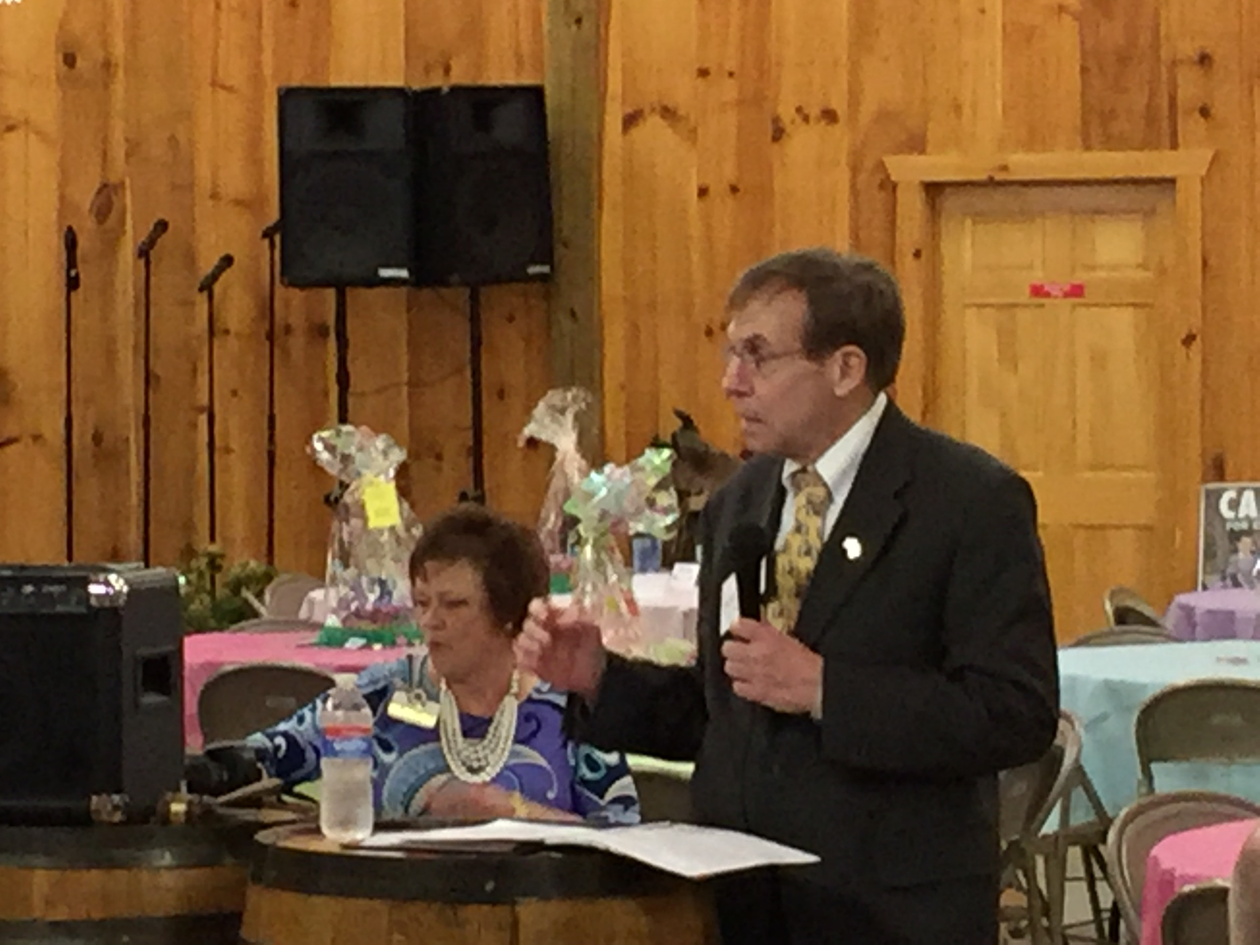 Addressing voters in Macon County, March 5, 2016.