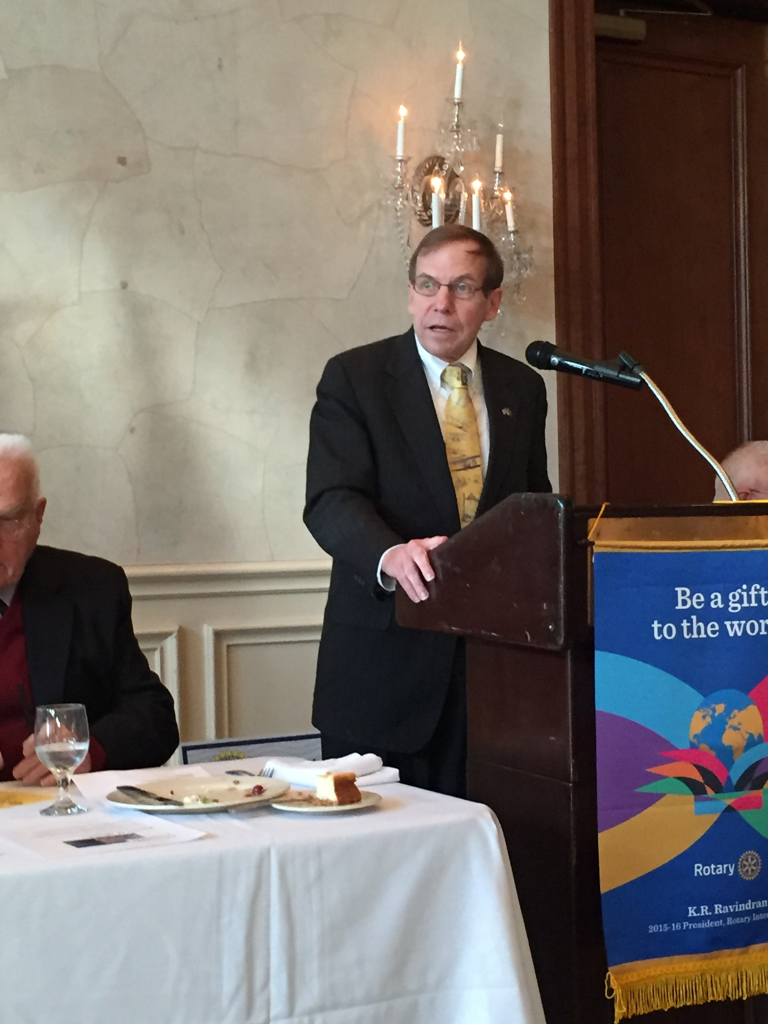 Speaking to High Point Rotary Club, January 14, 2016.