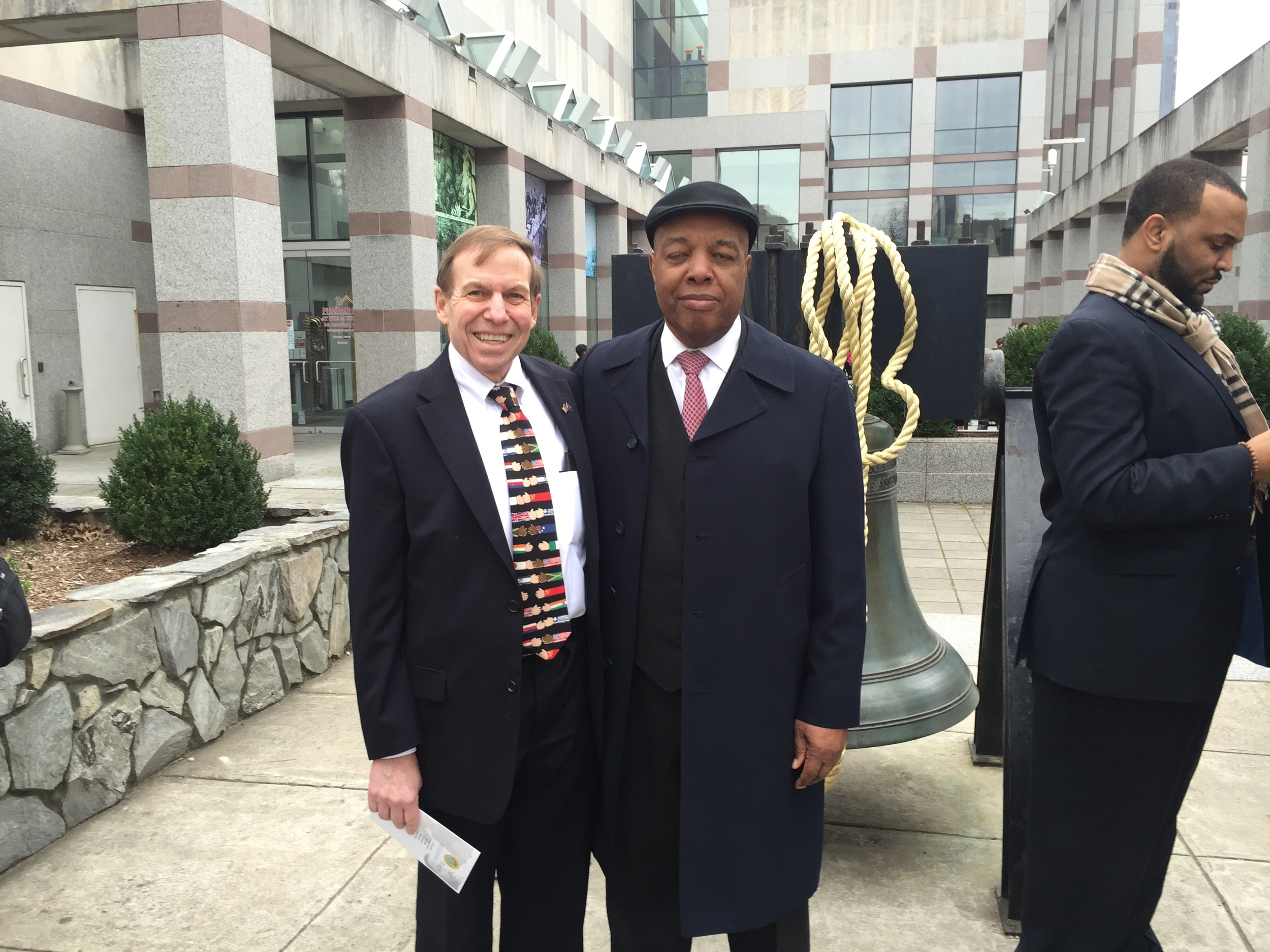 At MLK Liberty Bell ringing ceremony, January 15, 2016.