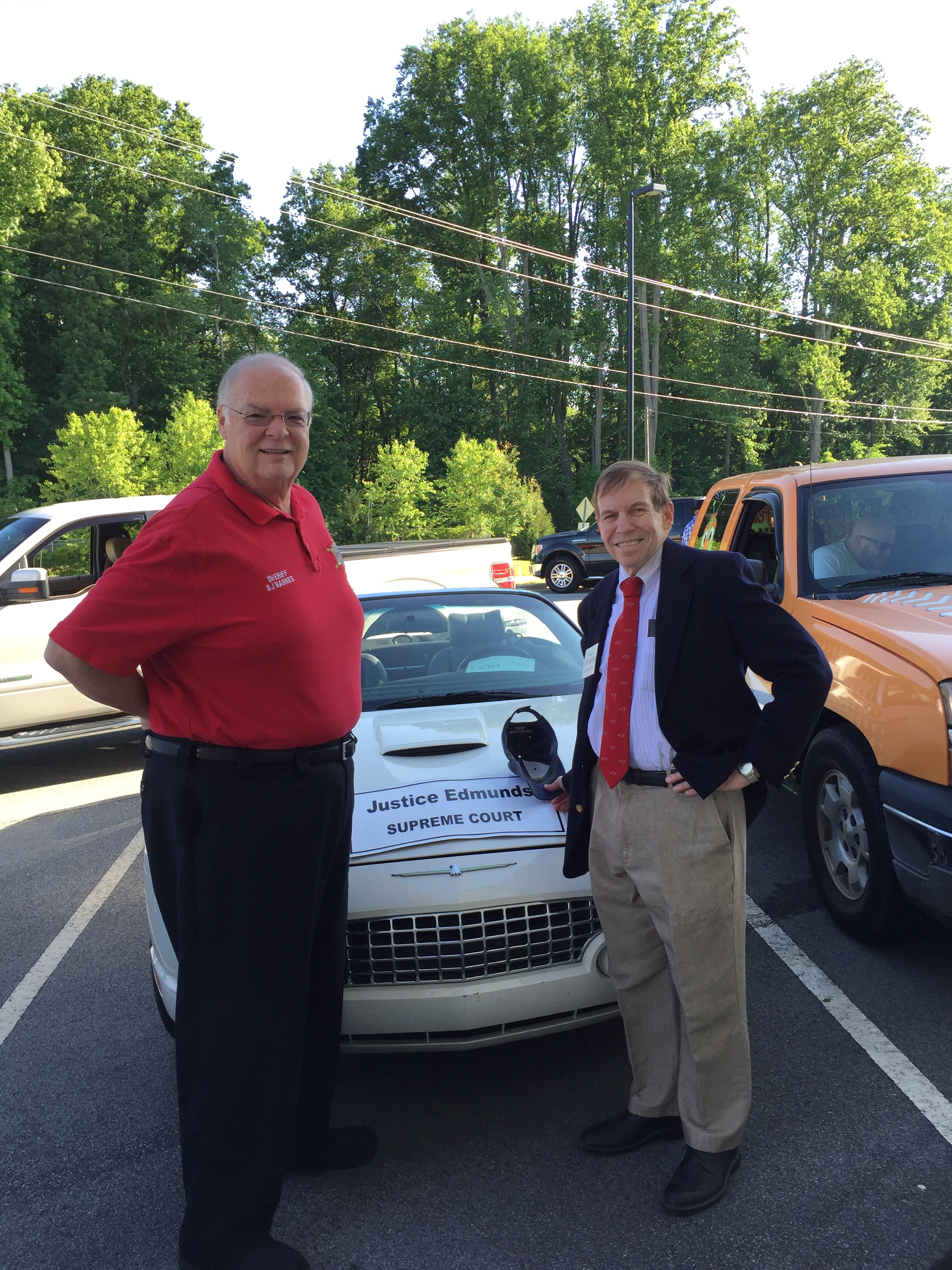 With Sheriff BJ Barnes at Summerfield Founders Day Parade, May 14, 2016.