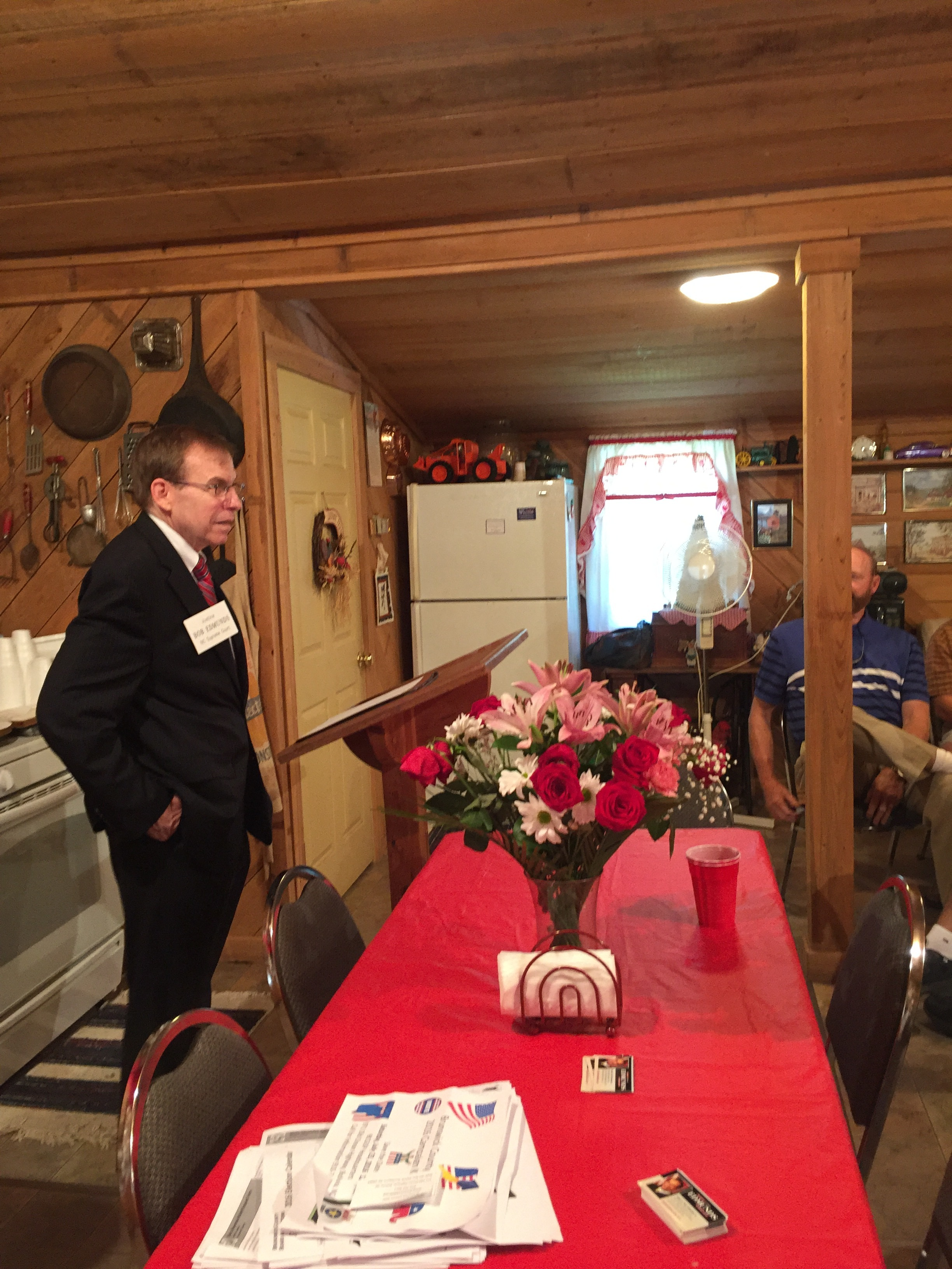 Meeting voters in Brunswick County, May 11, 2016.