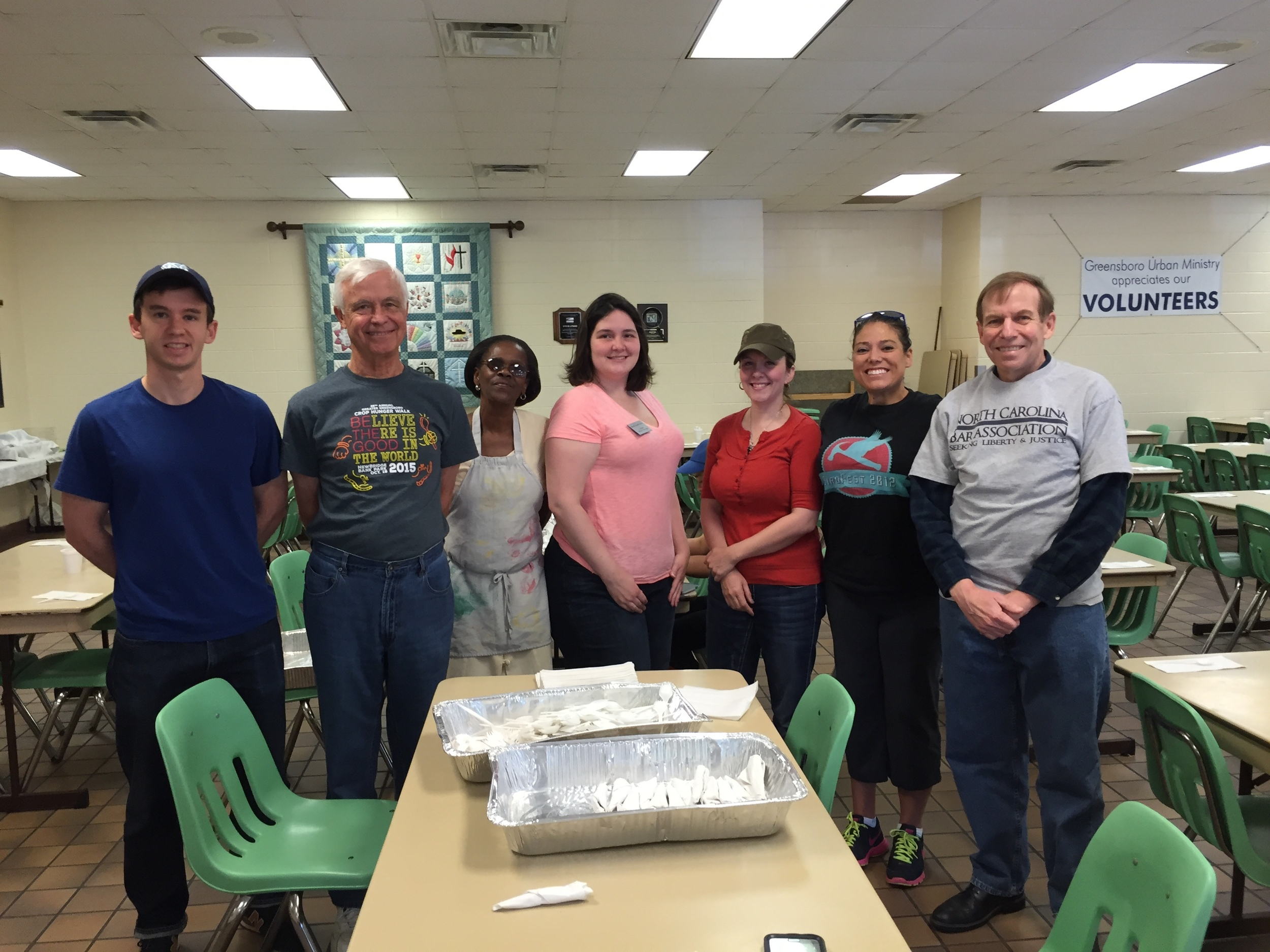 Serving with volunteers from Greensboro Bar Association at Potter's House, May 15, 2016.