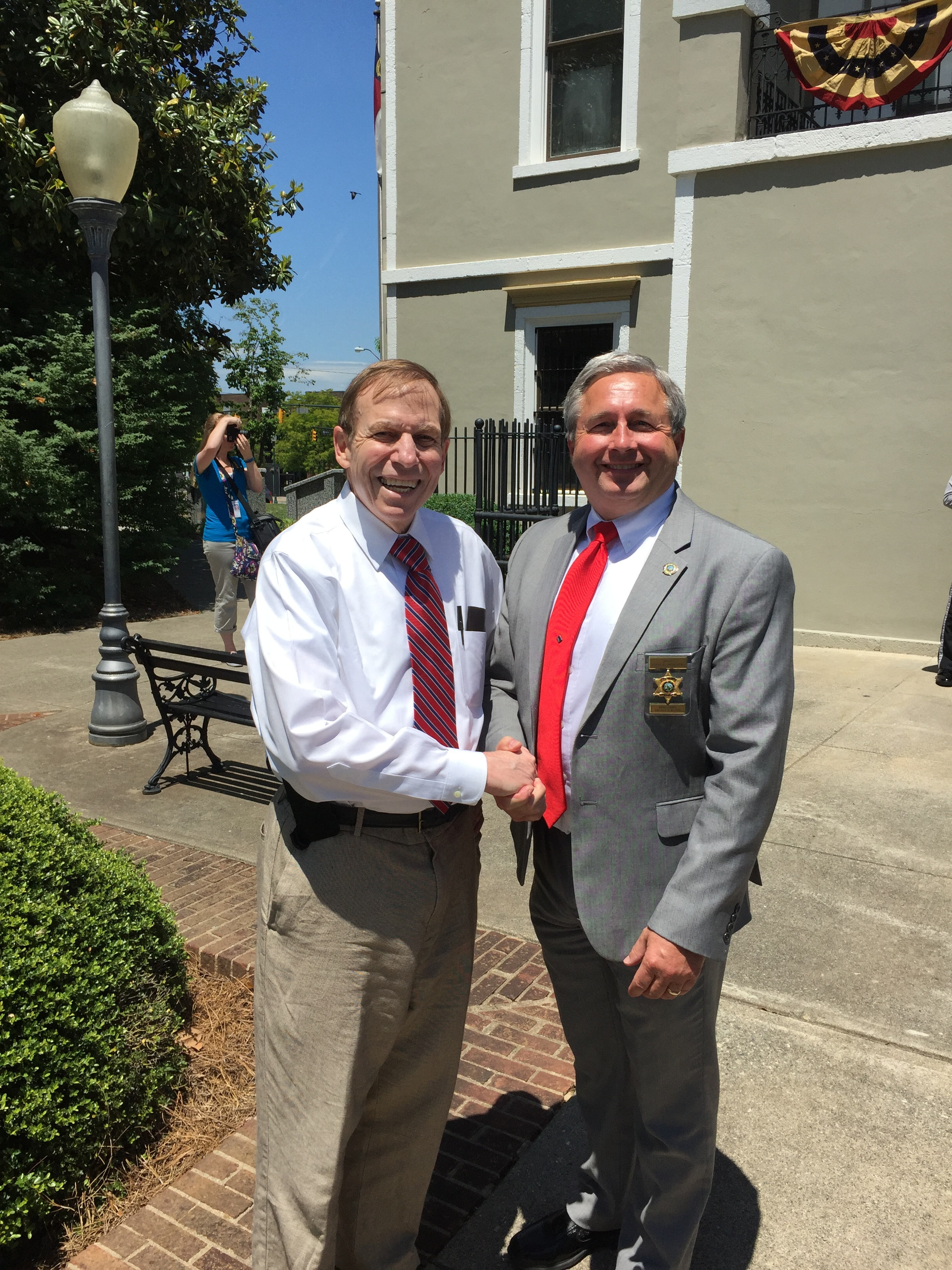With Sheriff Steve Whisenant, Burke County.