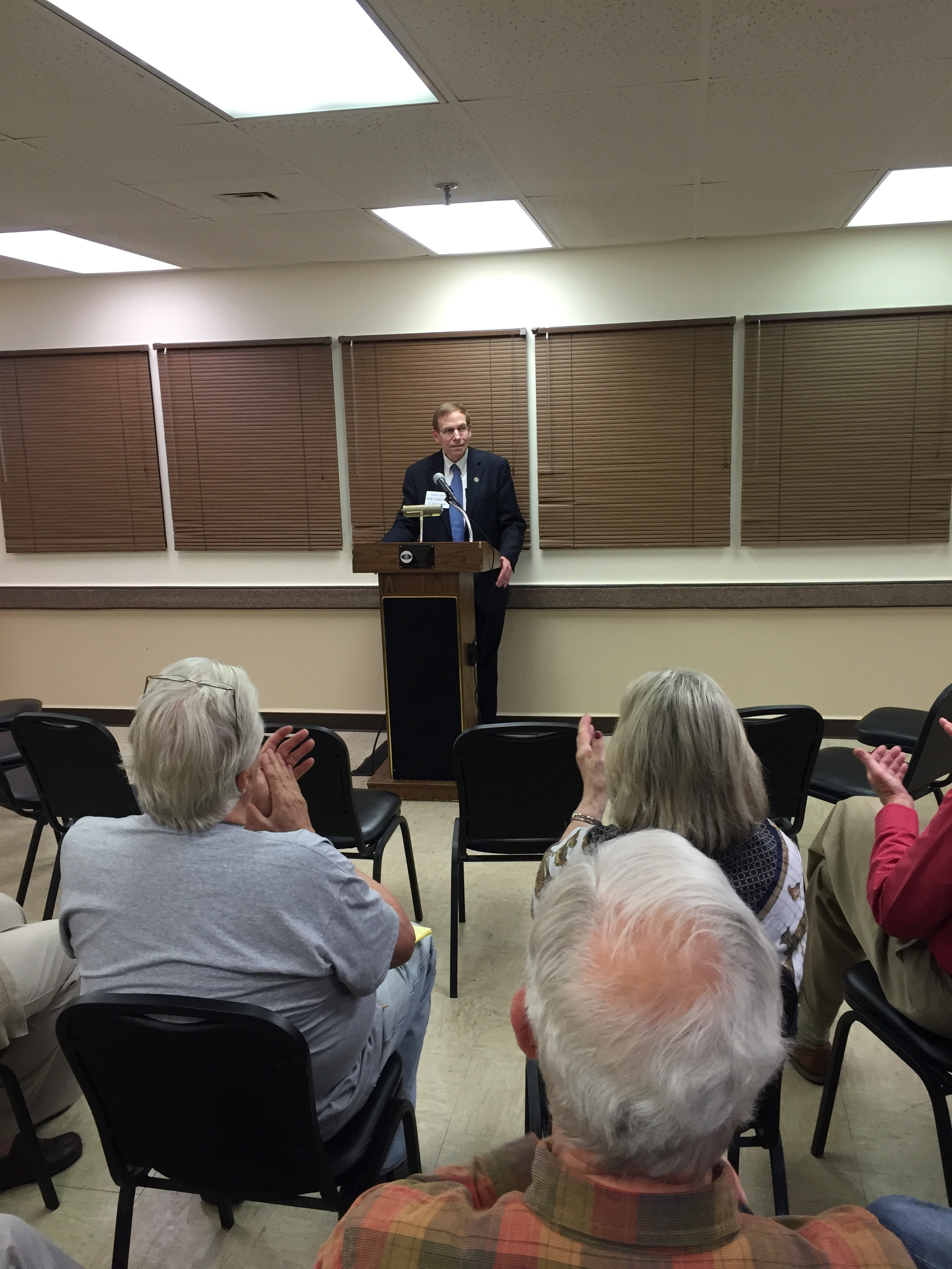 Meeting voters in Hendersonville, May 21, 2016