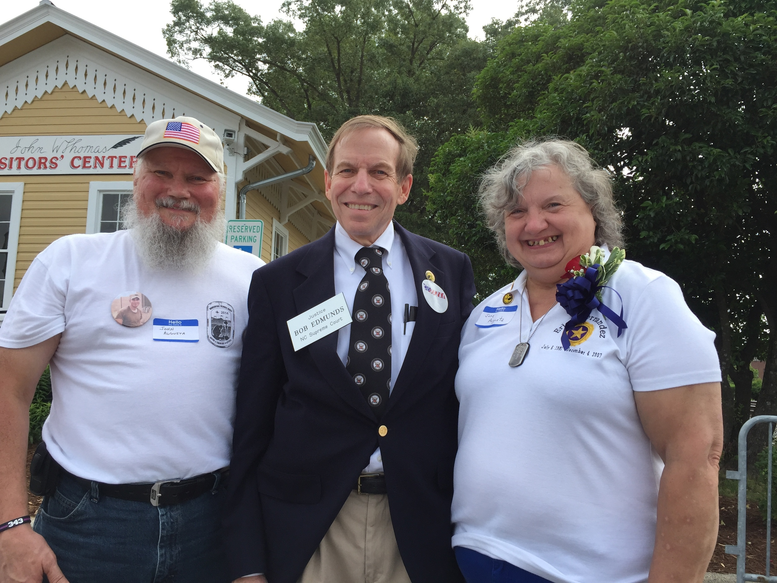 With gold star parents at Thomasville Memorial Day Parade, May 30, 2016.