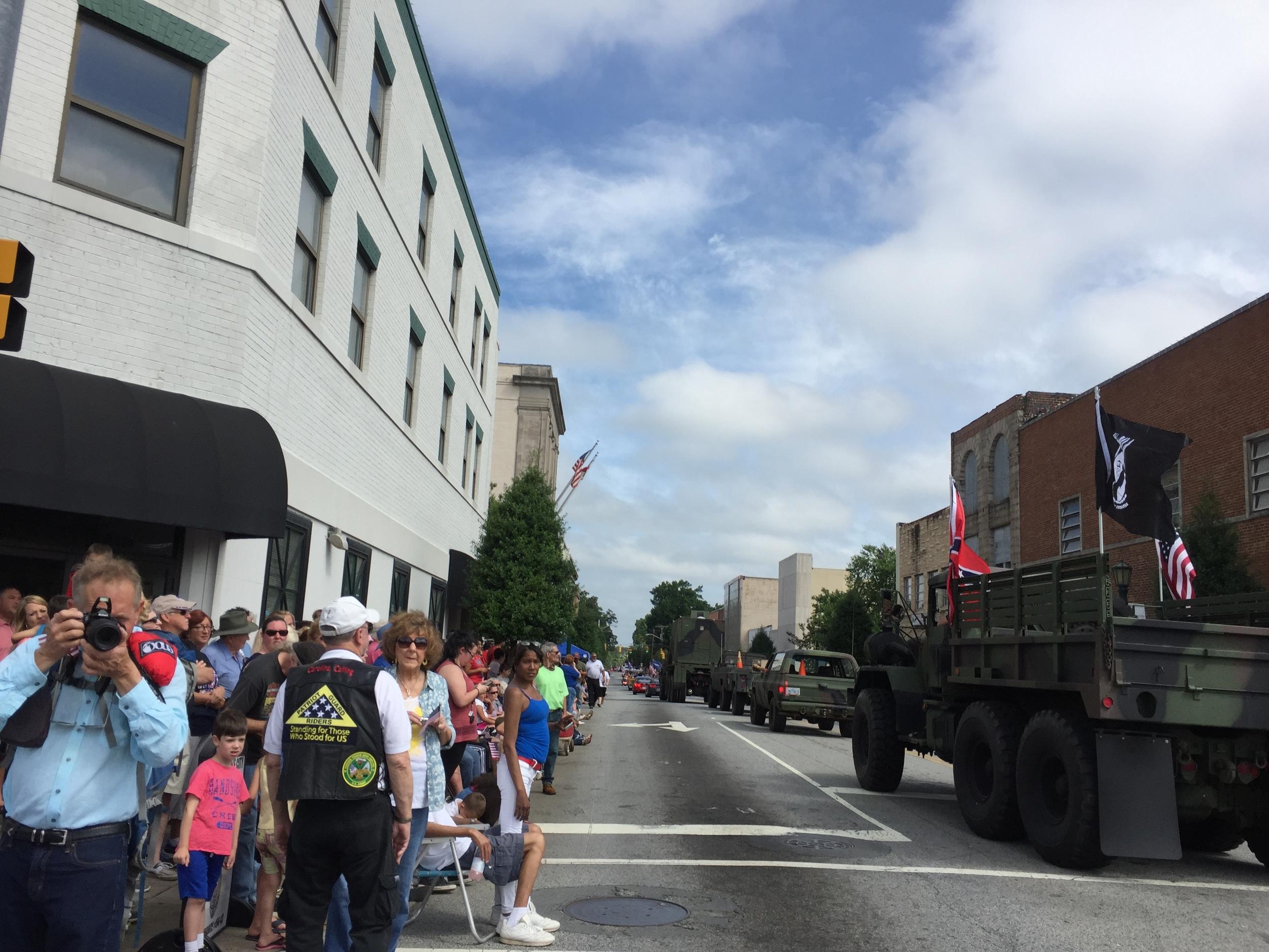 At Thomasville Memorial Day Parade, May 30, 2016.