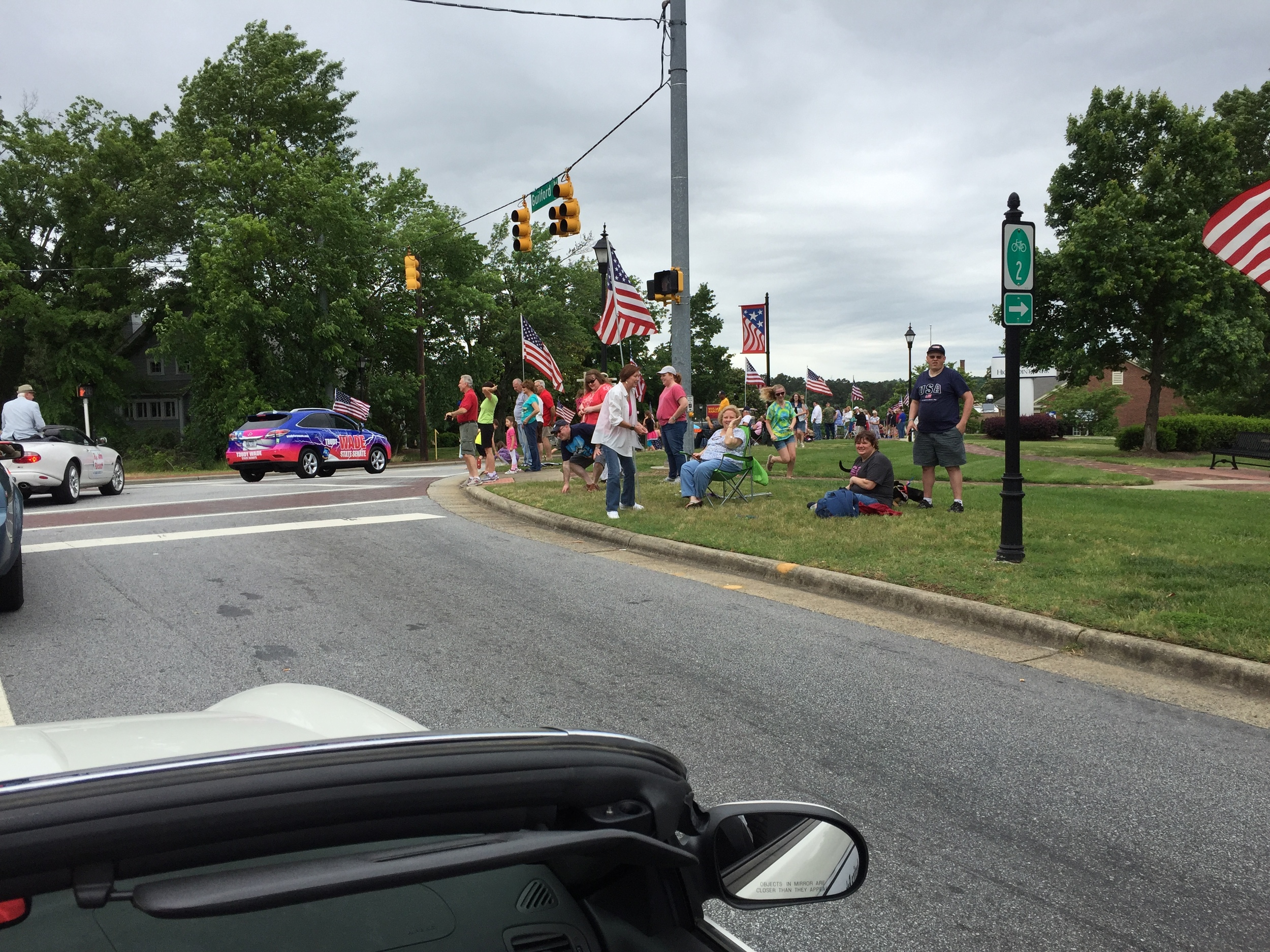 At Jamestown Memorial Day parade, May 29, 2016.